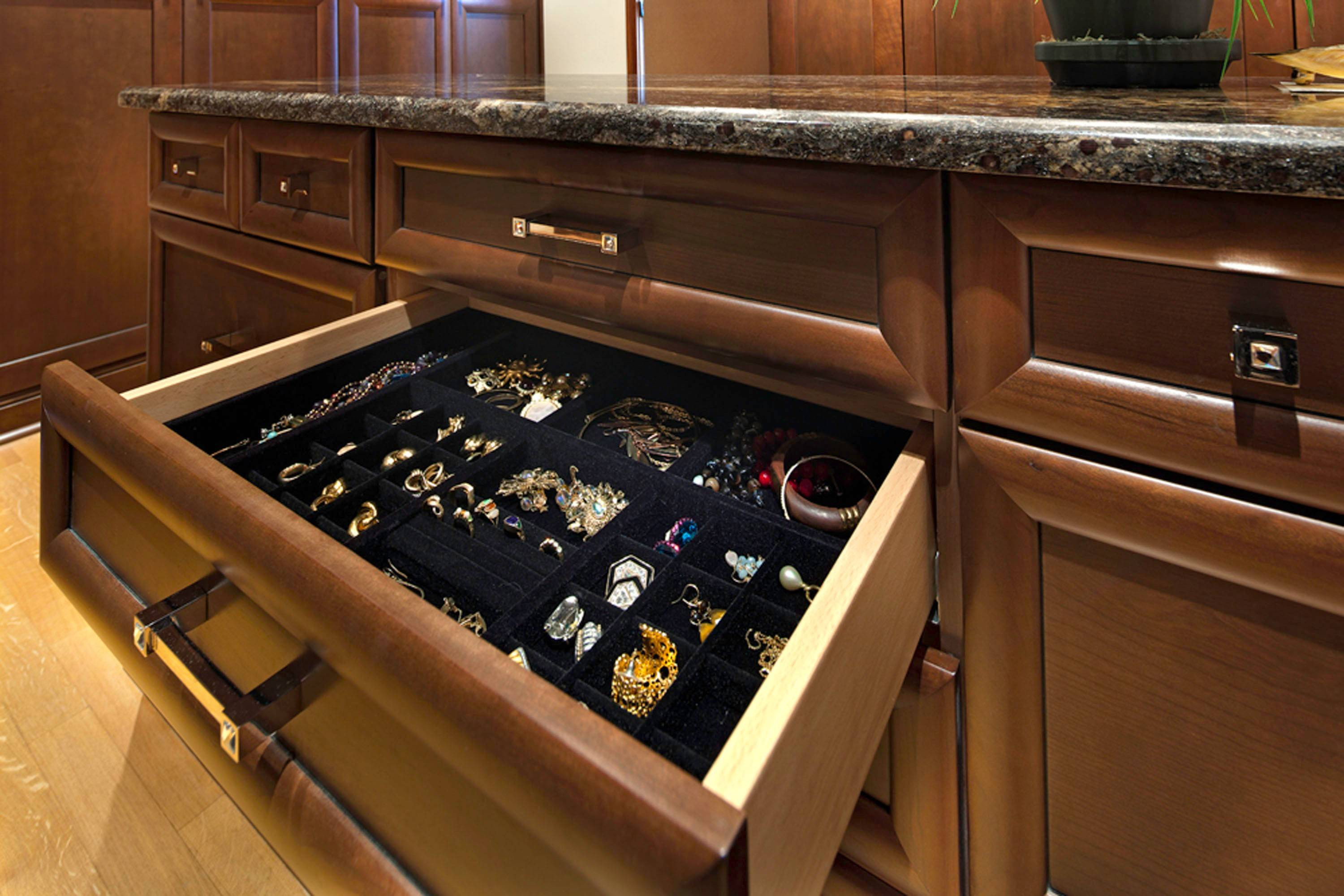 Keep your belongings safe during an open house. make sure your jewelry is locked and inaccessible.