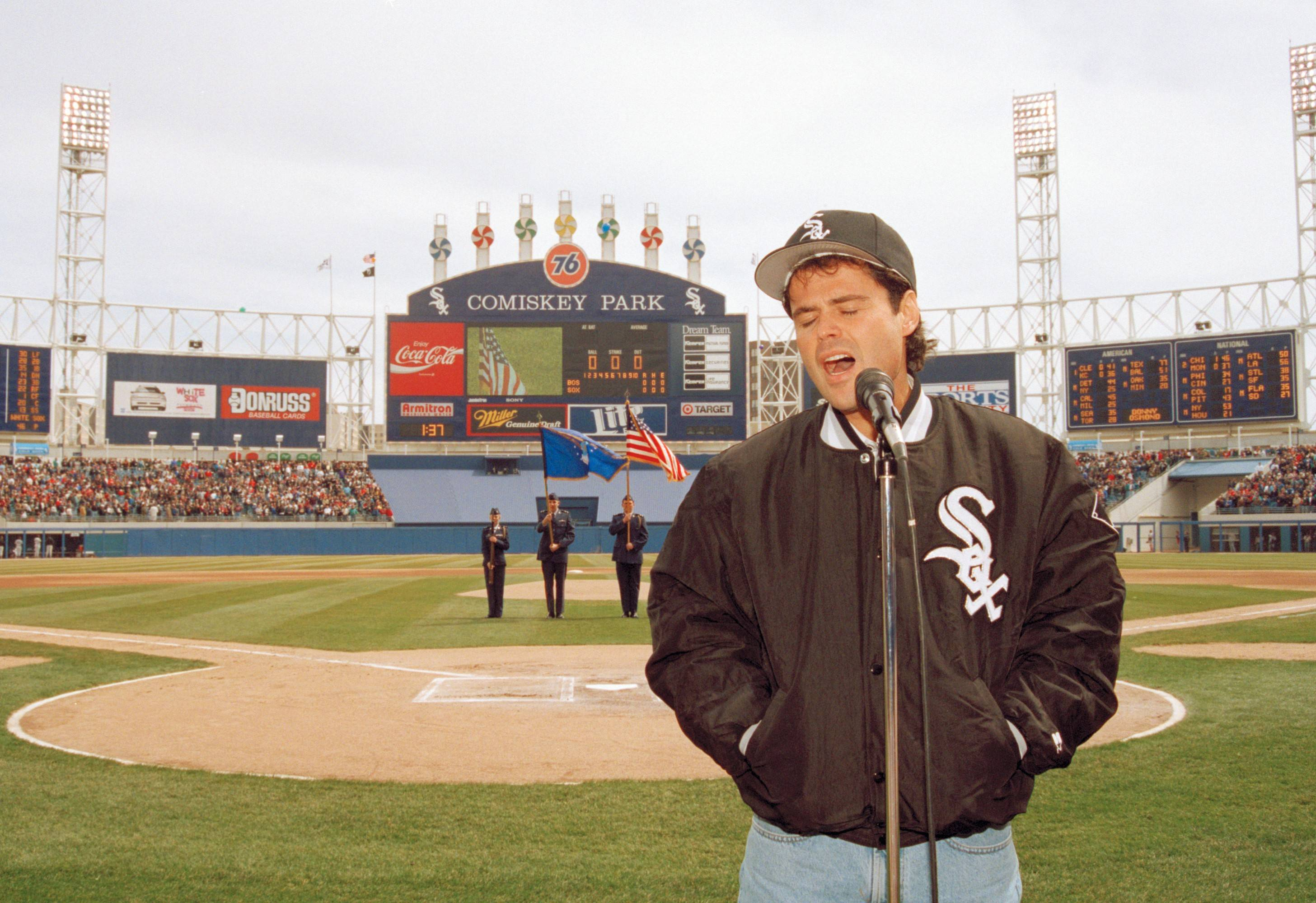 "Donny Osmond made the Chicago area home while starring in ""Joseph and the Amazing Technicolor Dreamcoat"" -- and even sang the National Anthem before the start of the White Sox season home opener against the Boston Red Sox in 1994 at what was then Comiskey Park."