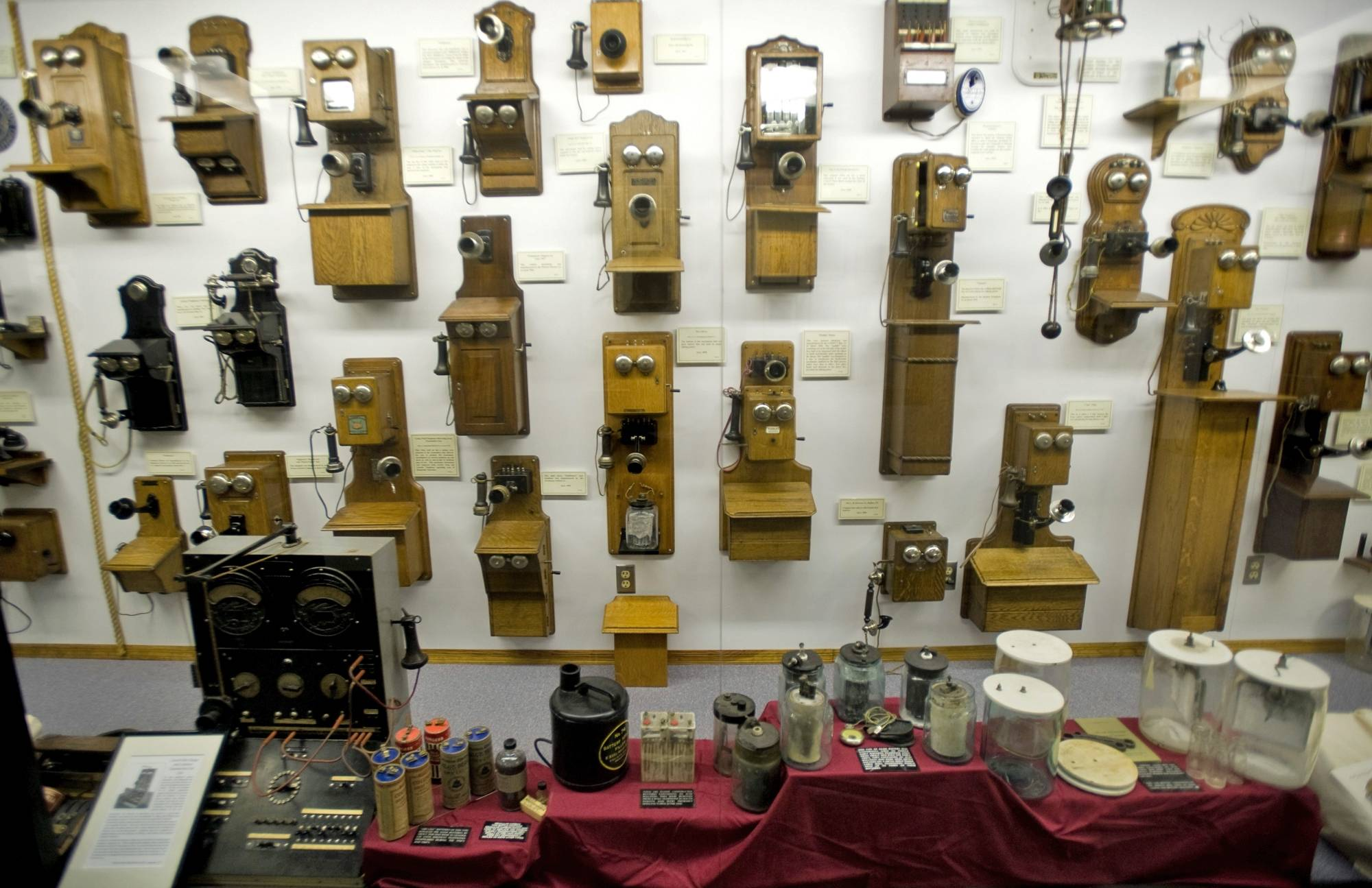 Visitors can see antique telephones and more at the Frank H. Woods Telephone Museum in Lincoln, Neb.