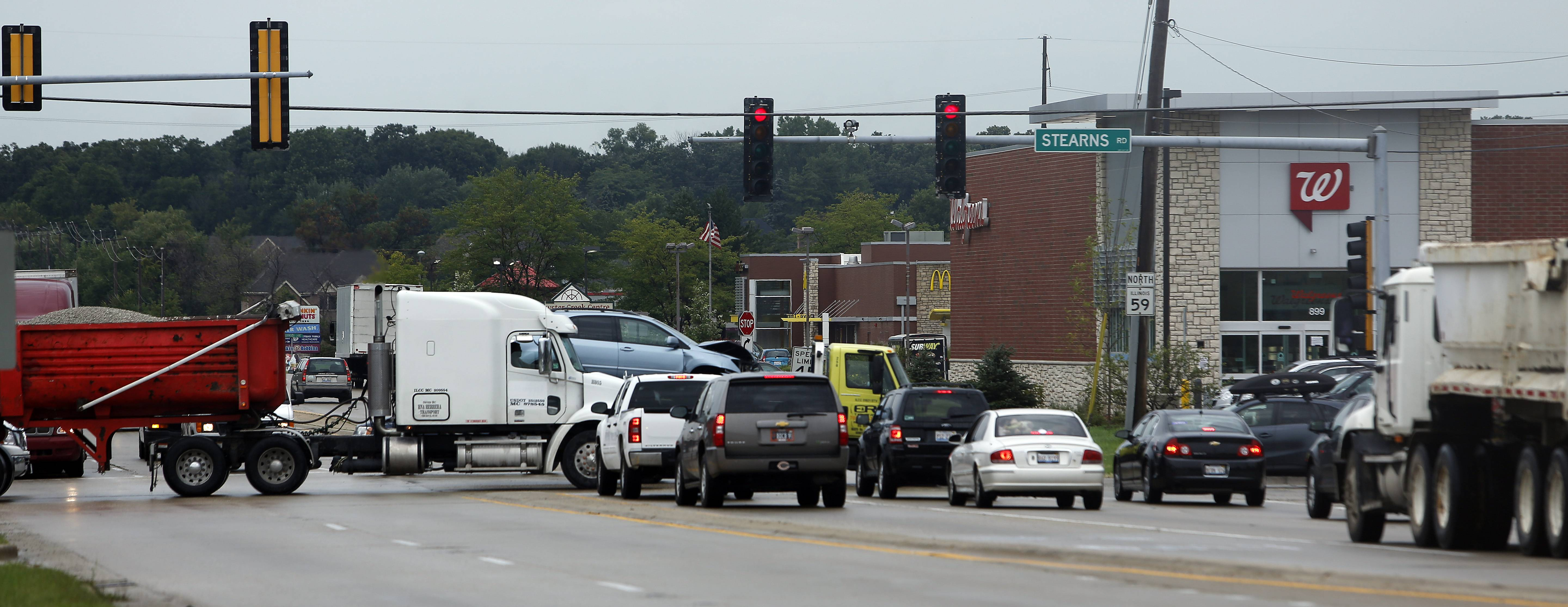 IDOT is planning to widen the intersection of Route 59 and Stearns Road in Bartlett to ease congestion.