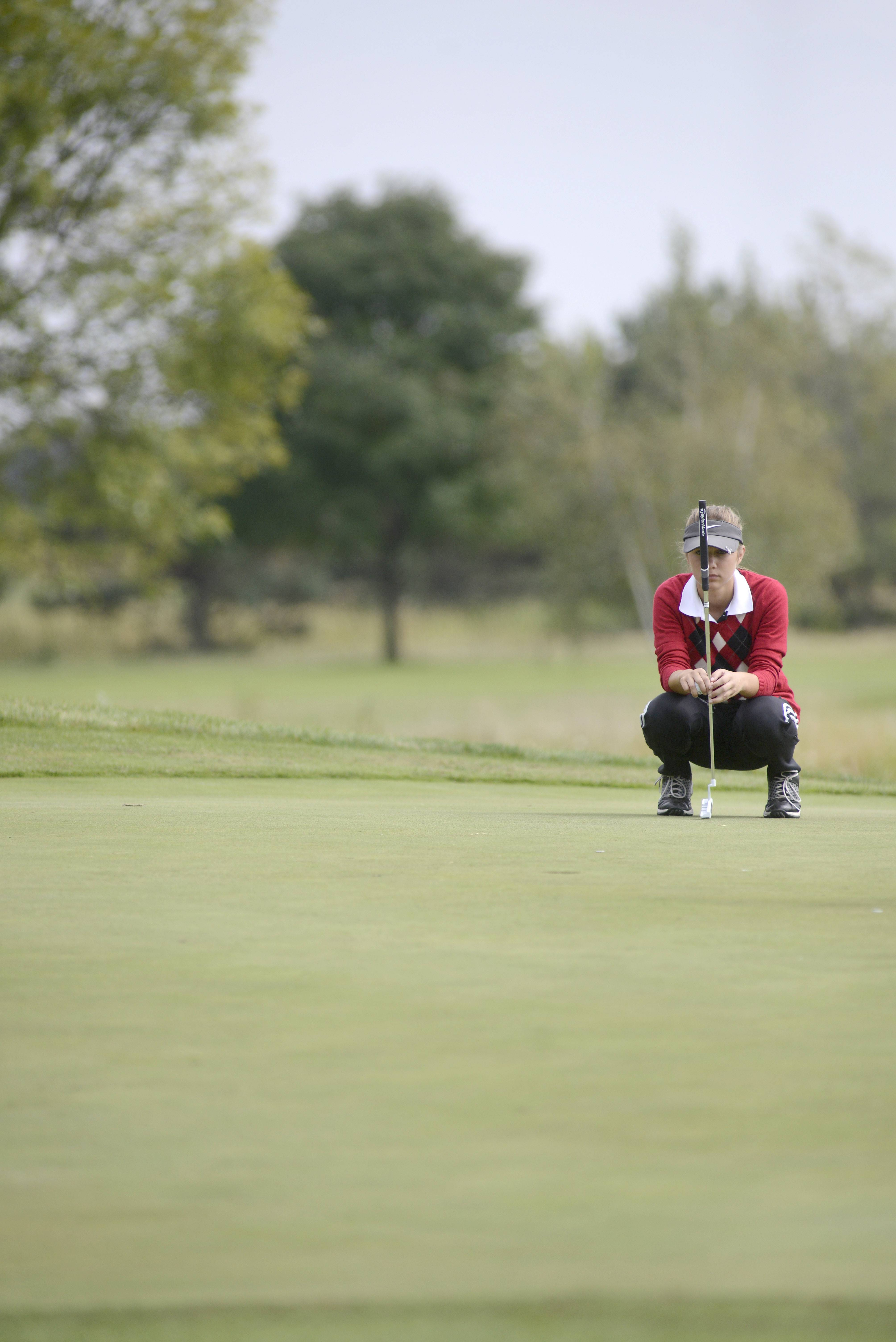 Huntley's Gillian Young is one of the top returning girls golfers in the Fox Valley Conference.