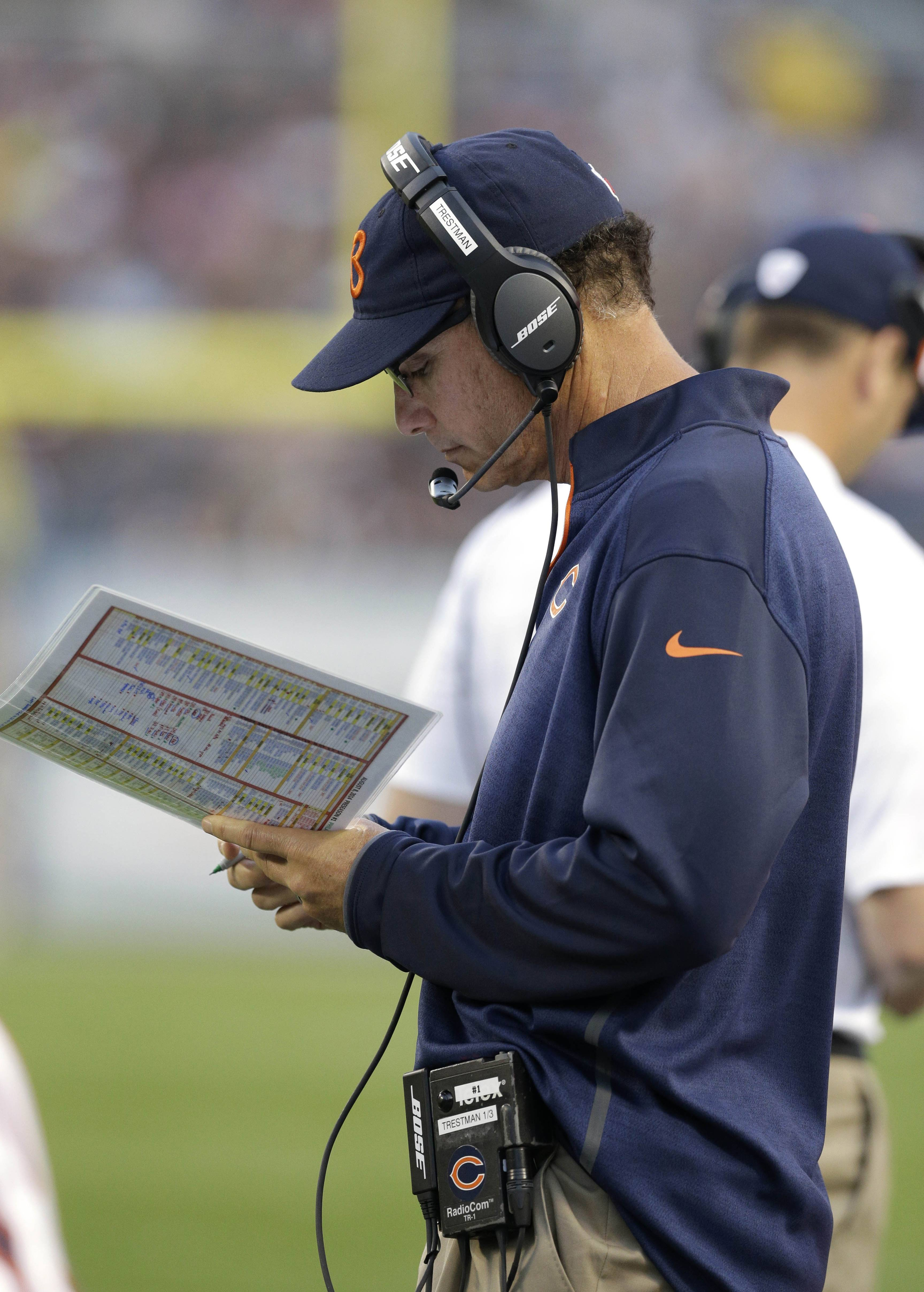 Coach Marc Trestman and the Bears visit Seattle to take on the Seahawks in tonight's preseason game.