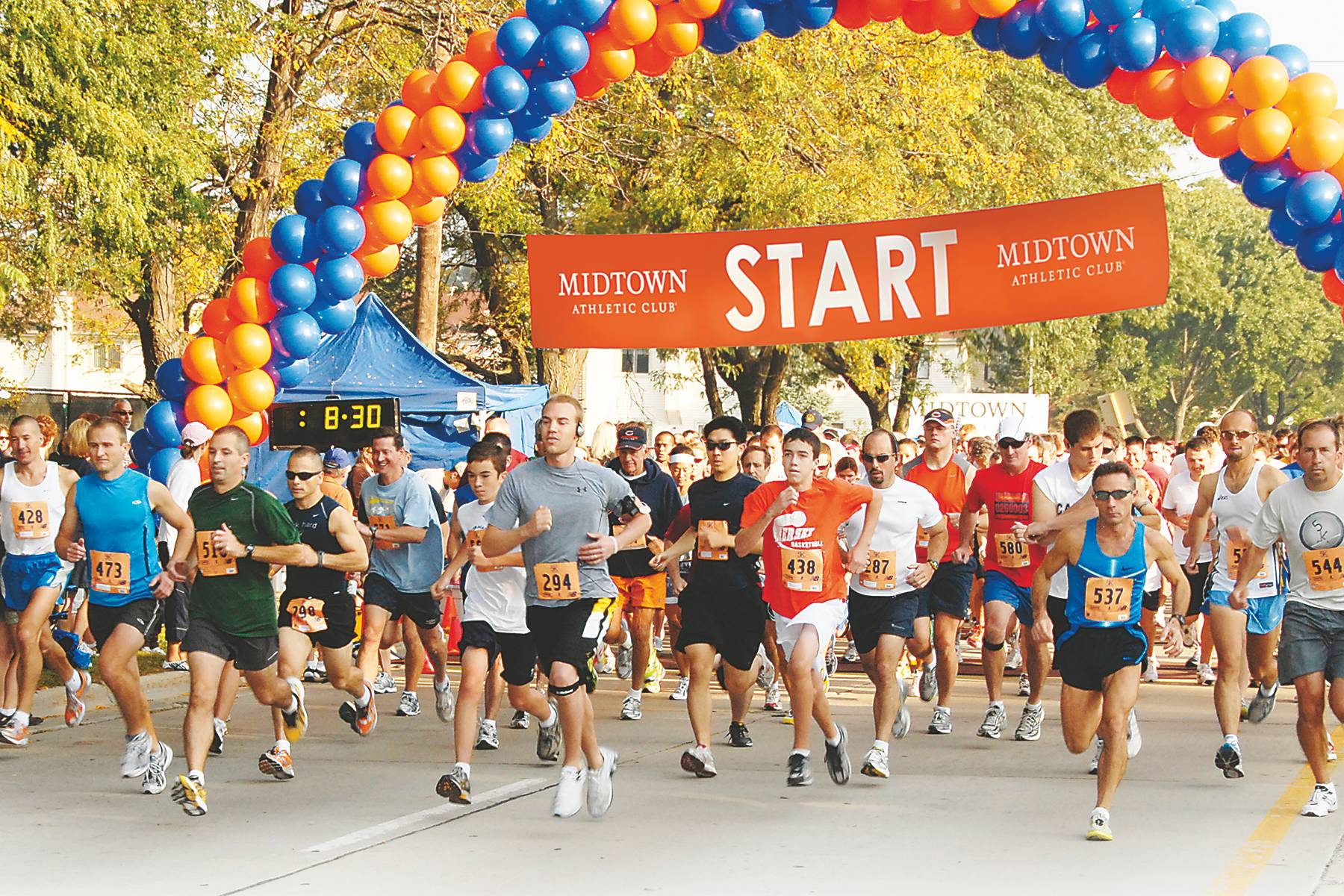 Since inception in 2002, the Midtown 5K Run & Walk has raised more than $300,000 for Bears Care, the official charity of the Chicago Bears. Richard Klein Photography