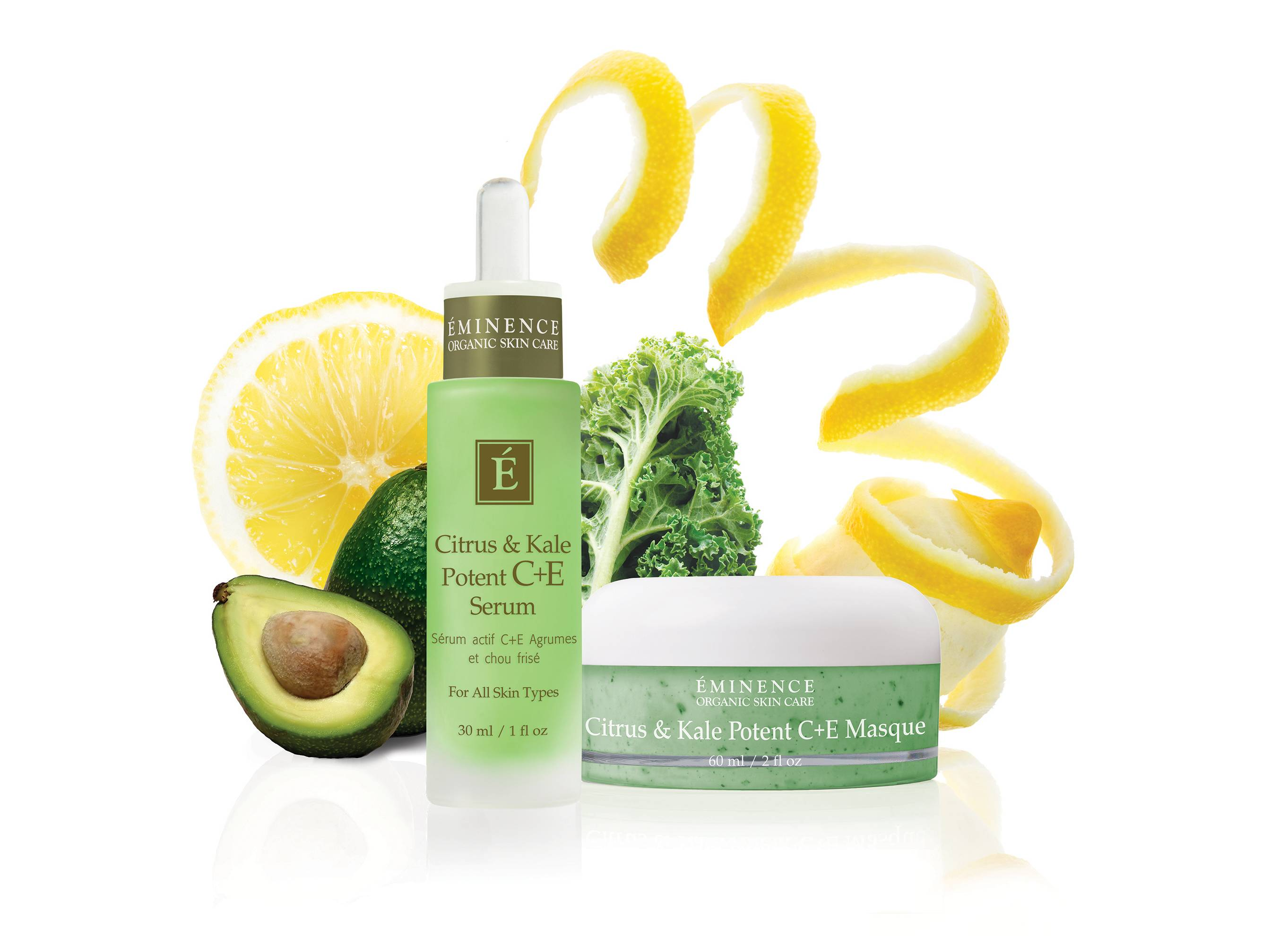 With a boost in popularity as a food and juic, kale has made its way into the beauty industry, such as with Citrus & Kale Potent C+E Serum, left, and Citrus & Kale Potent C+E Masque made with kale.