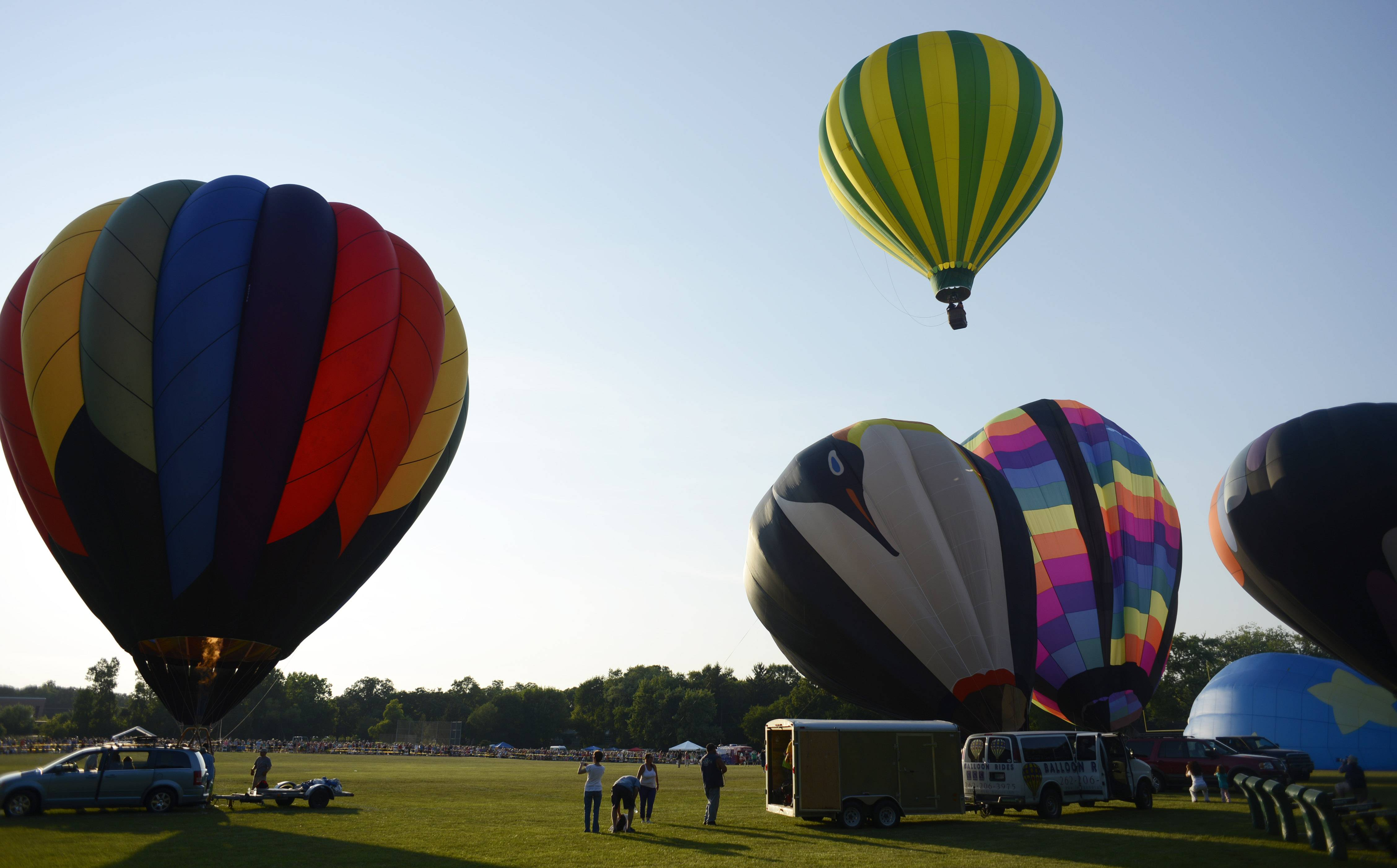 Balloons are launched during the Color Aloft Balloon Festival last year in Grayslake. The second annual event is Saturday, Aug. 23.
