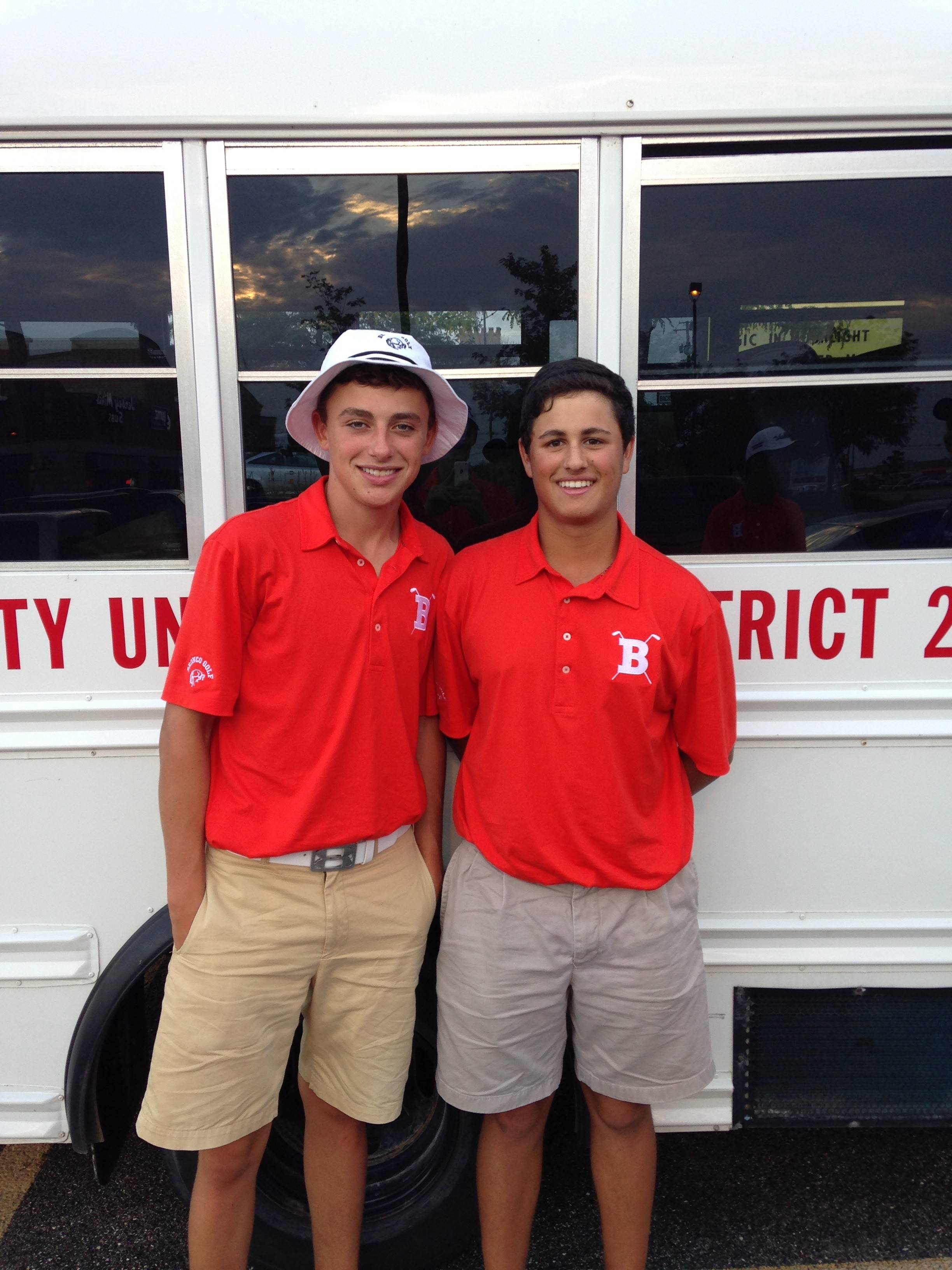 Joey Batliner, left, and Tom Calbi give Barrington a pair of proven varsity standouts heading into the boys golf season.