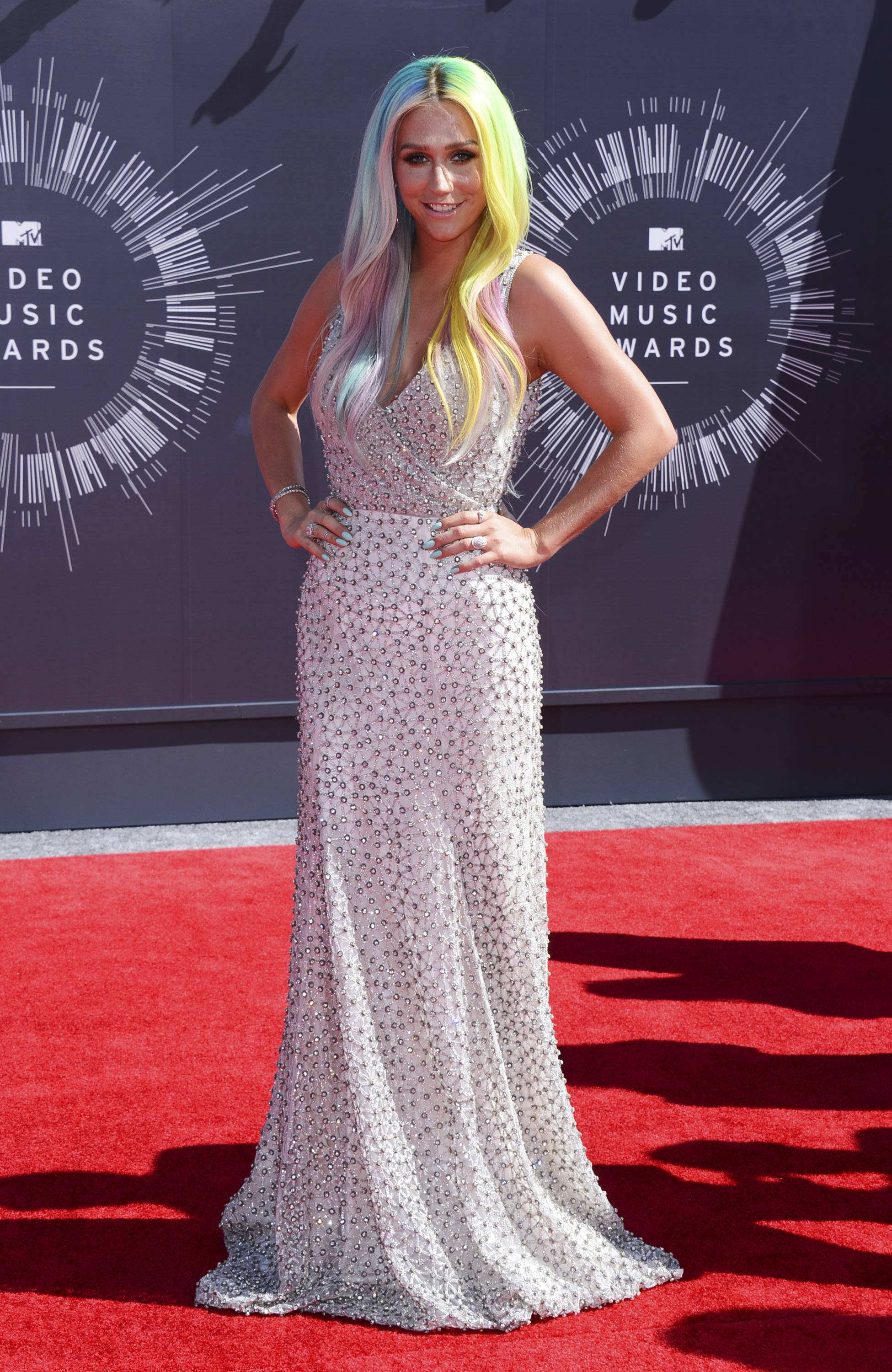 BEST: Ke$ha, who has seen her fair share of worst dressed list appearances, pulls off edgey glamour in this gown.