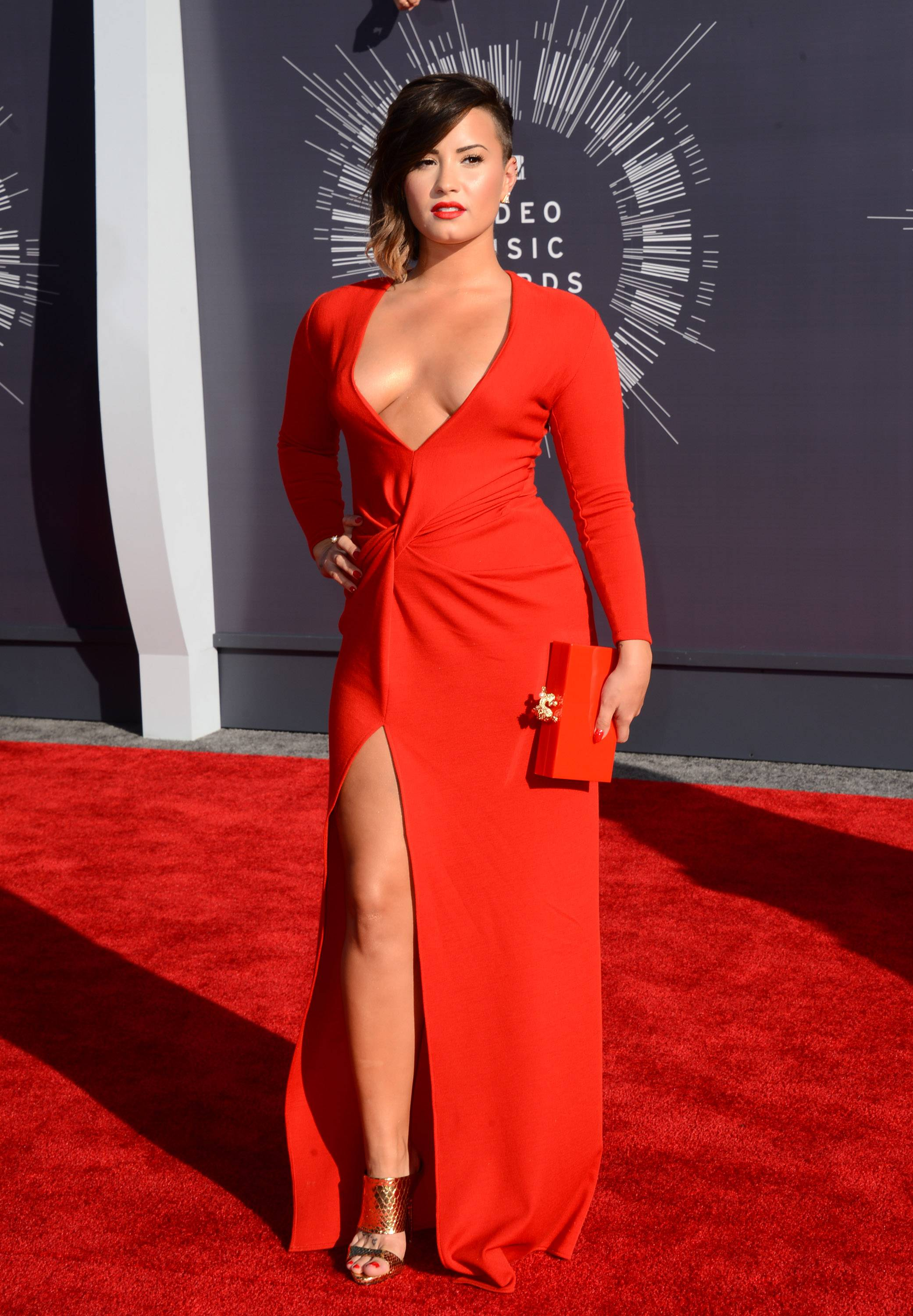 "BEST: This ain't Disney's Demi Lovato. The former ""Camp Rock"" star goes for siren red."