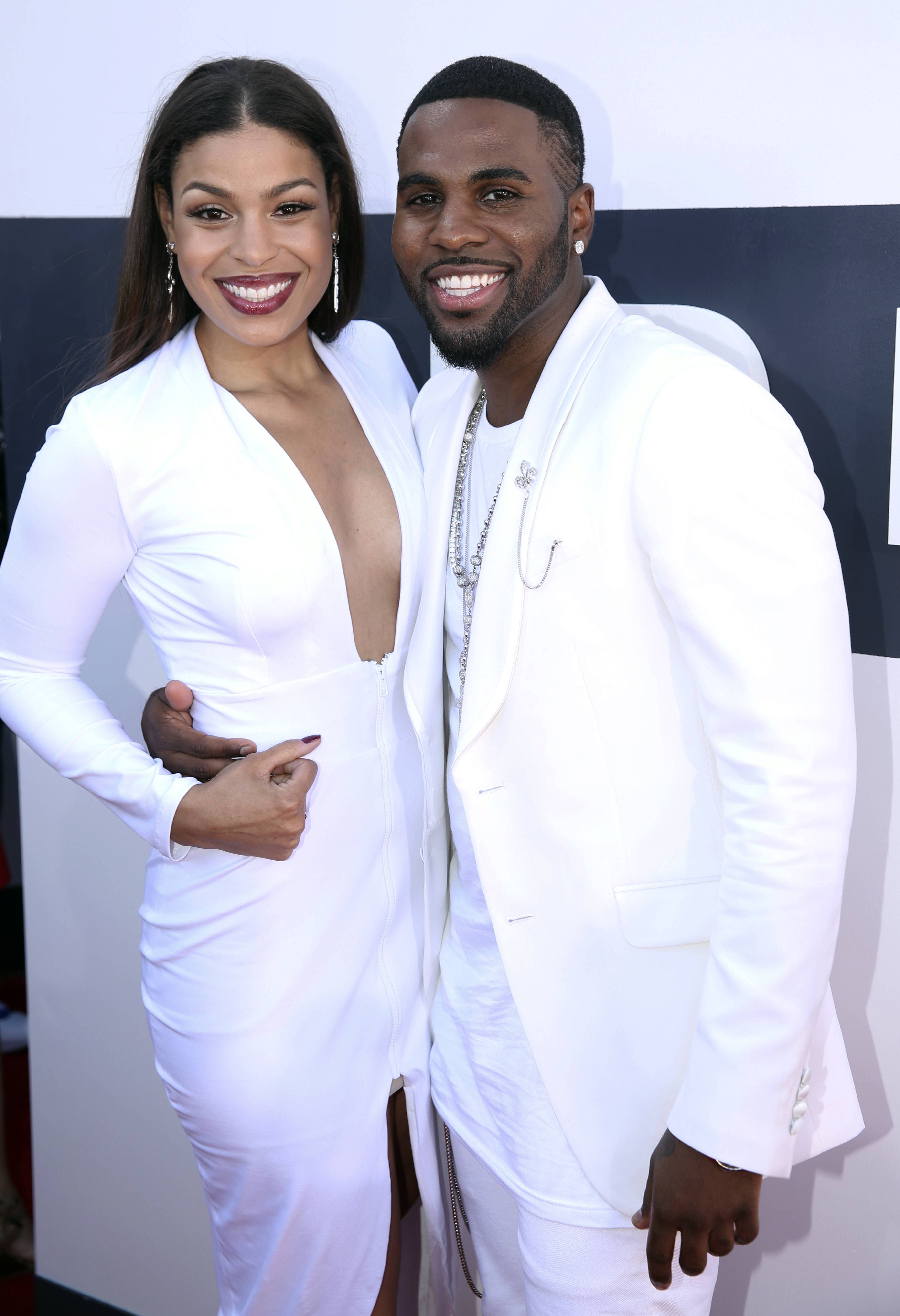 BEST: Normally super matchy couples are a bad thing (see Katy Perry and Riff Raff), but Jordin Sparks, left, and Jason Derulo look smitten and smashing on the red carpet.