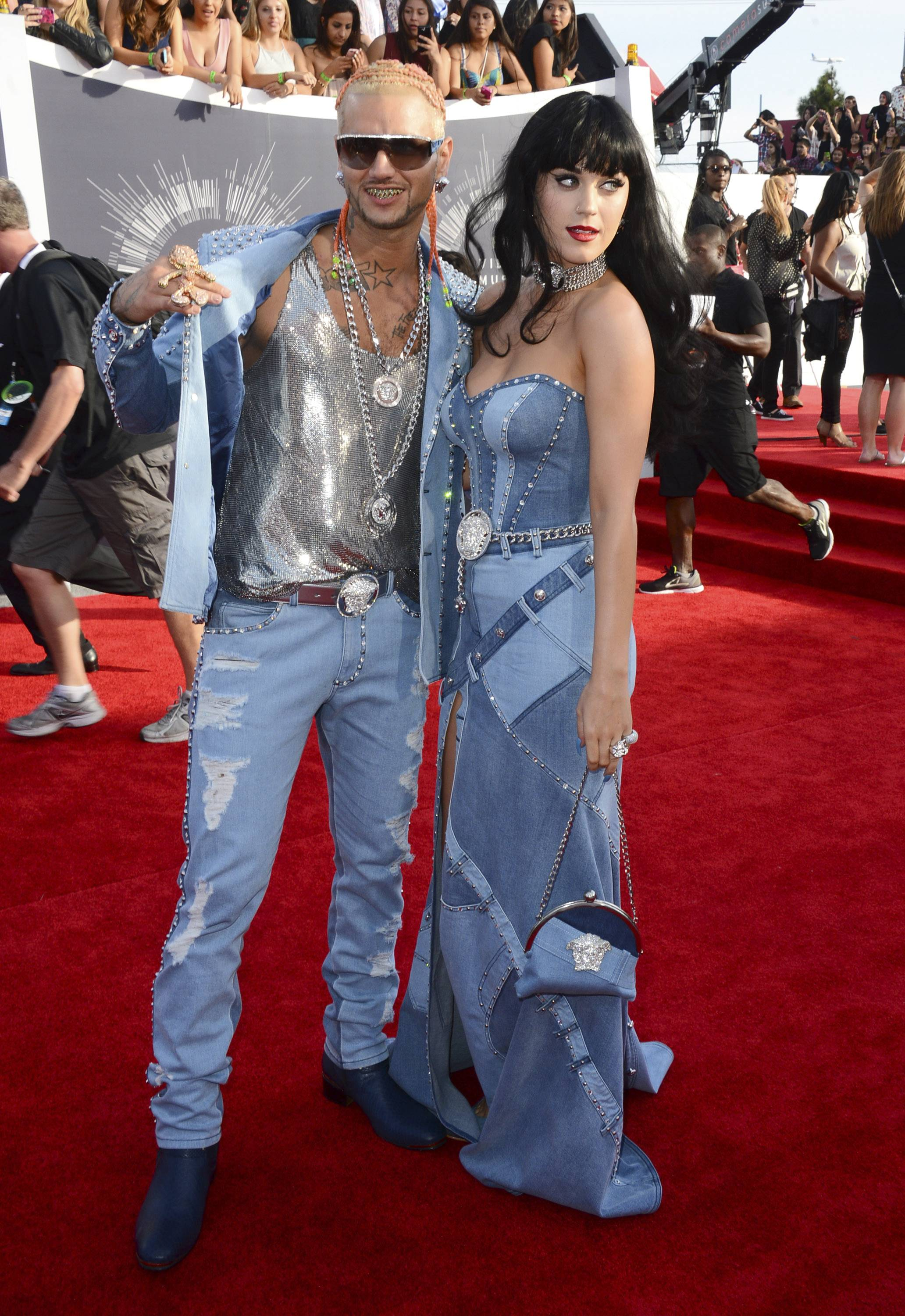 WORST: The eyes - they burn! Just say no to the denim nostalgia of Riff Raff and Katy Perry.
