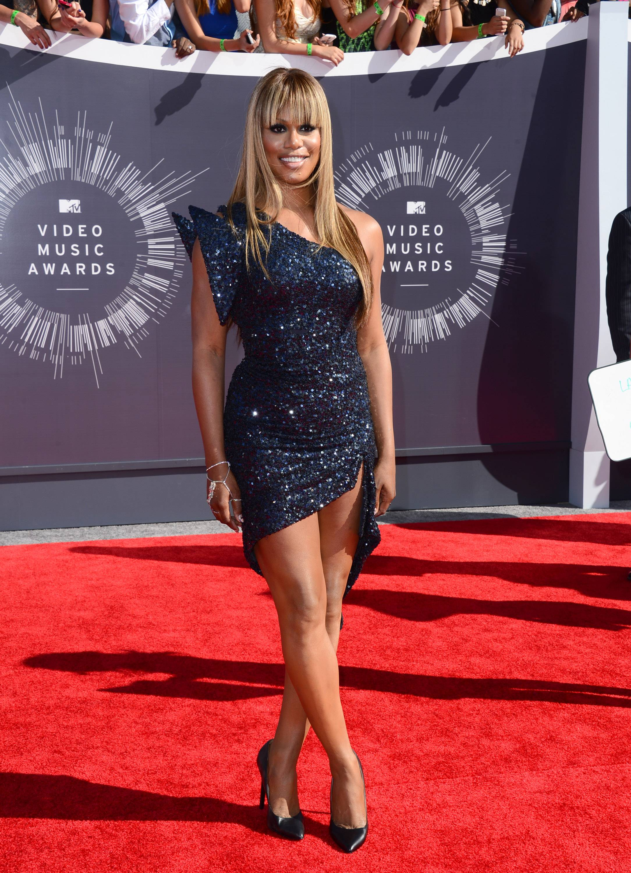 "Associated Press/Invision ""Orange Is the New Black"" actress Laverne Cox arrives at the MTV Video Music Awards at The Forum on Sunday in Inglewood, Calif."