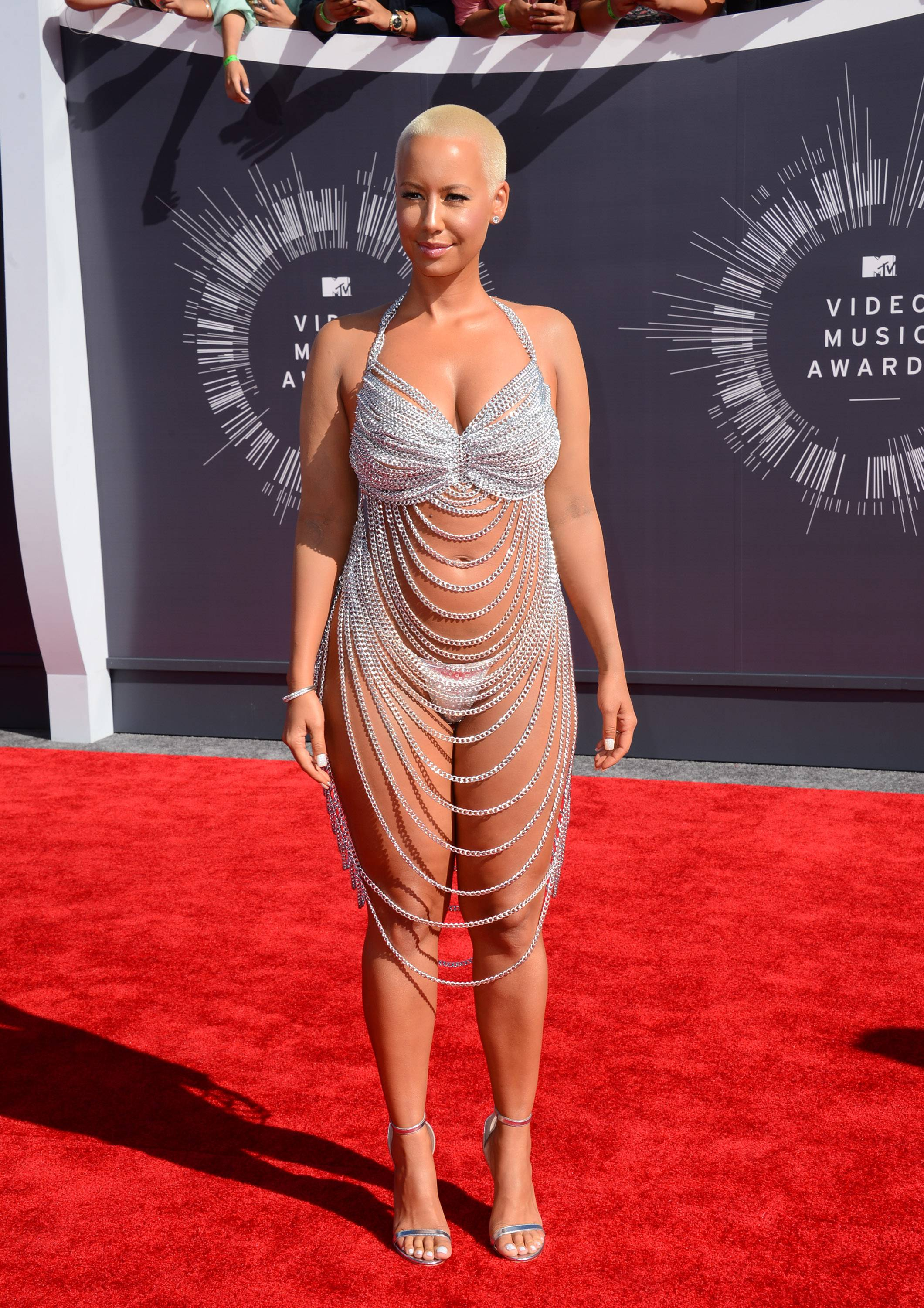 What is there to say about Amber Rose's VMAs get up? Other than yikes? Nothing.
