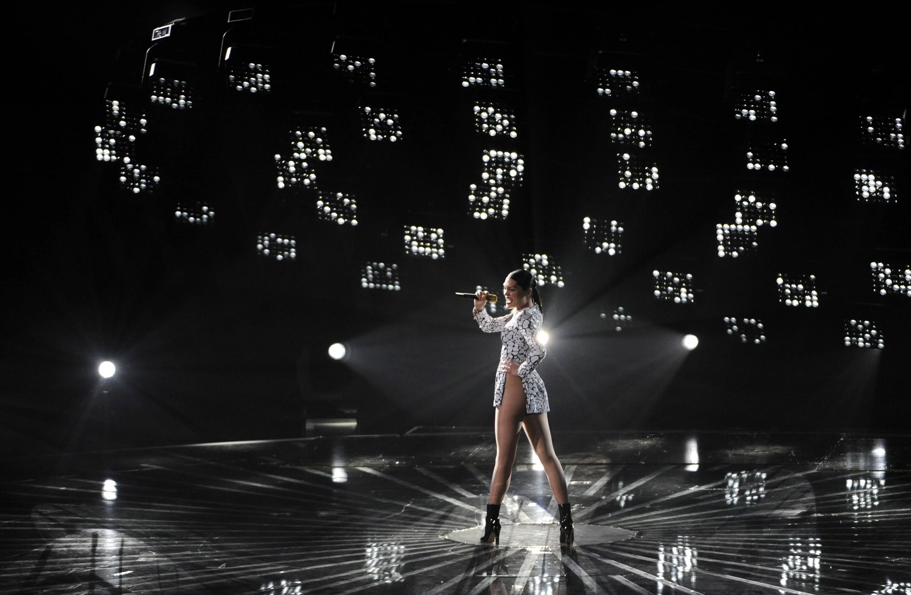 Jessie J performs at the MTV Video Music Awards.