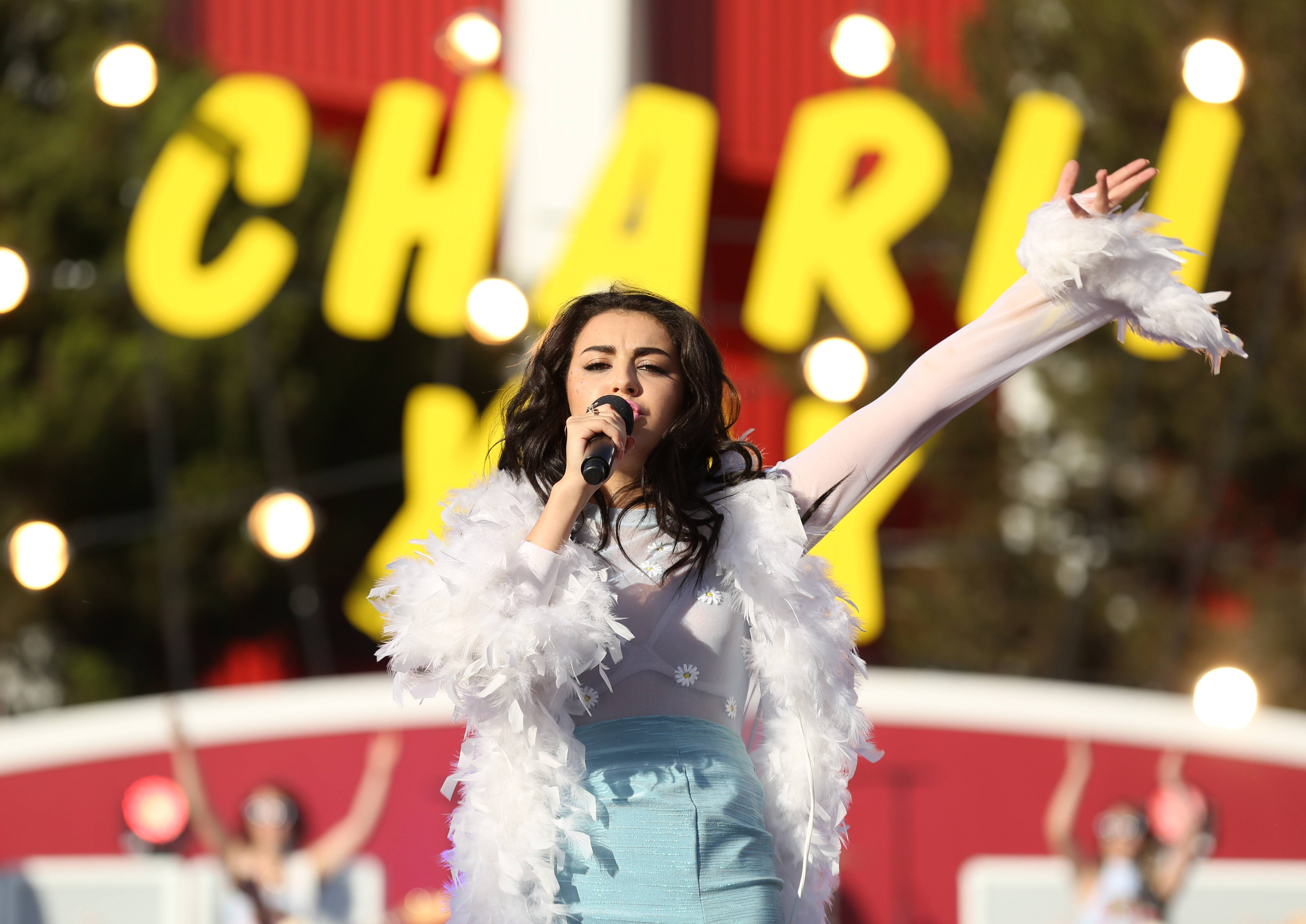Charli XCX performs at the MTV Video Music Awards.