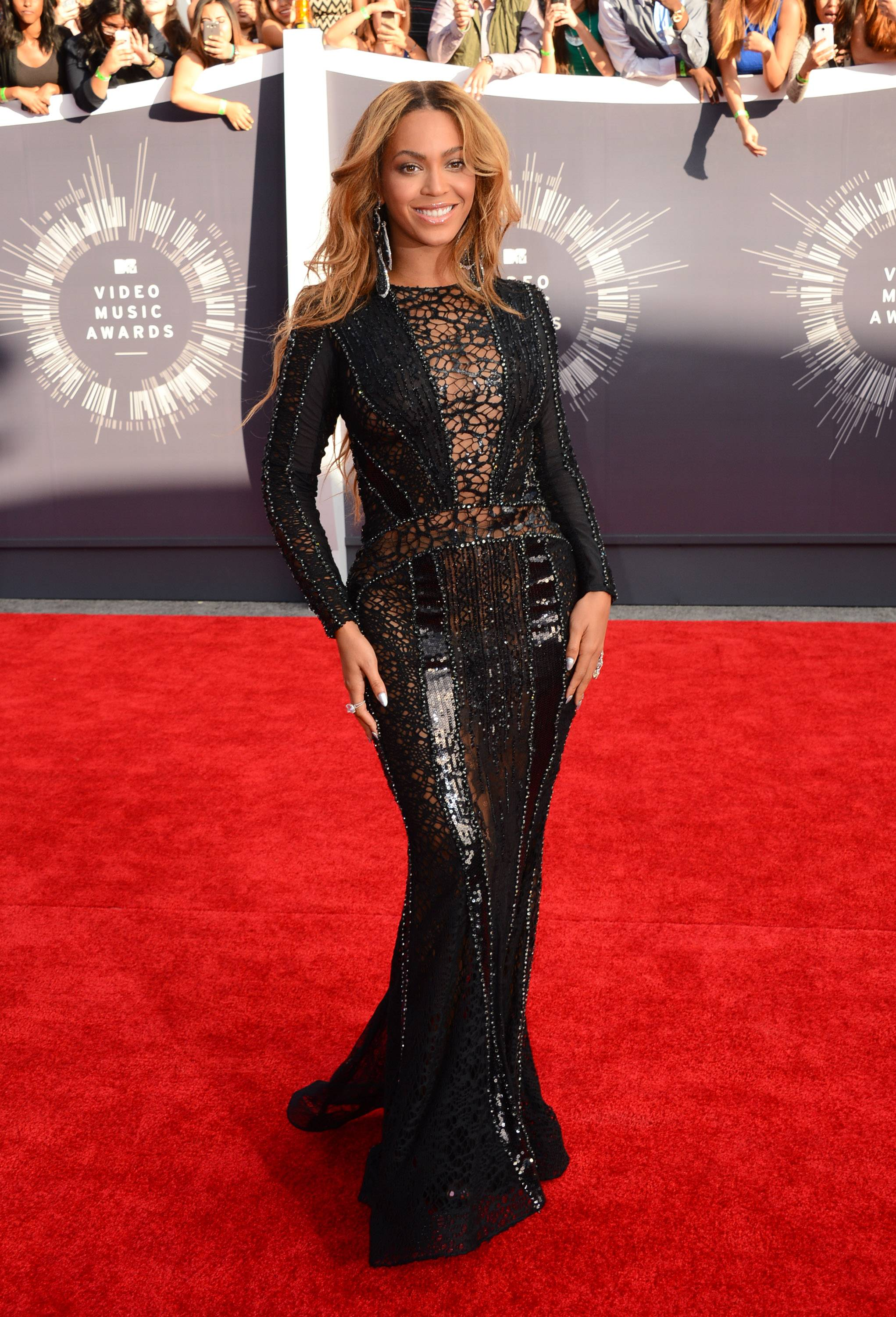 Beyonce arrives at the MTV Video Music Awards on Sunday.