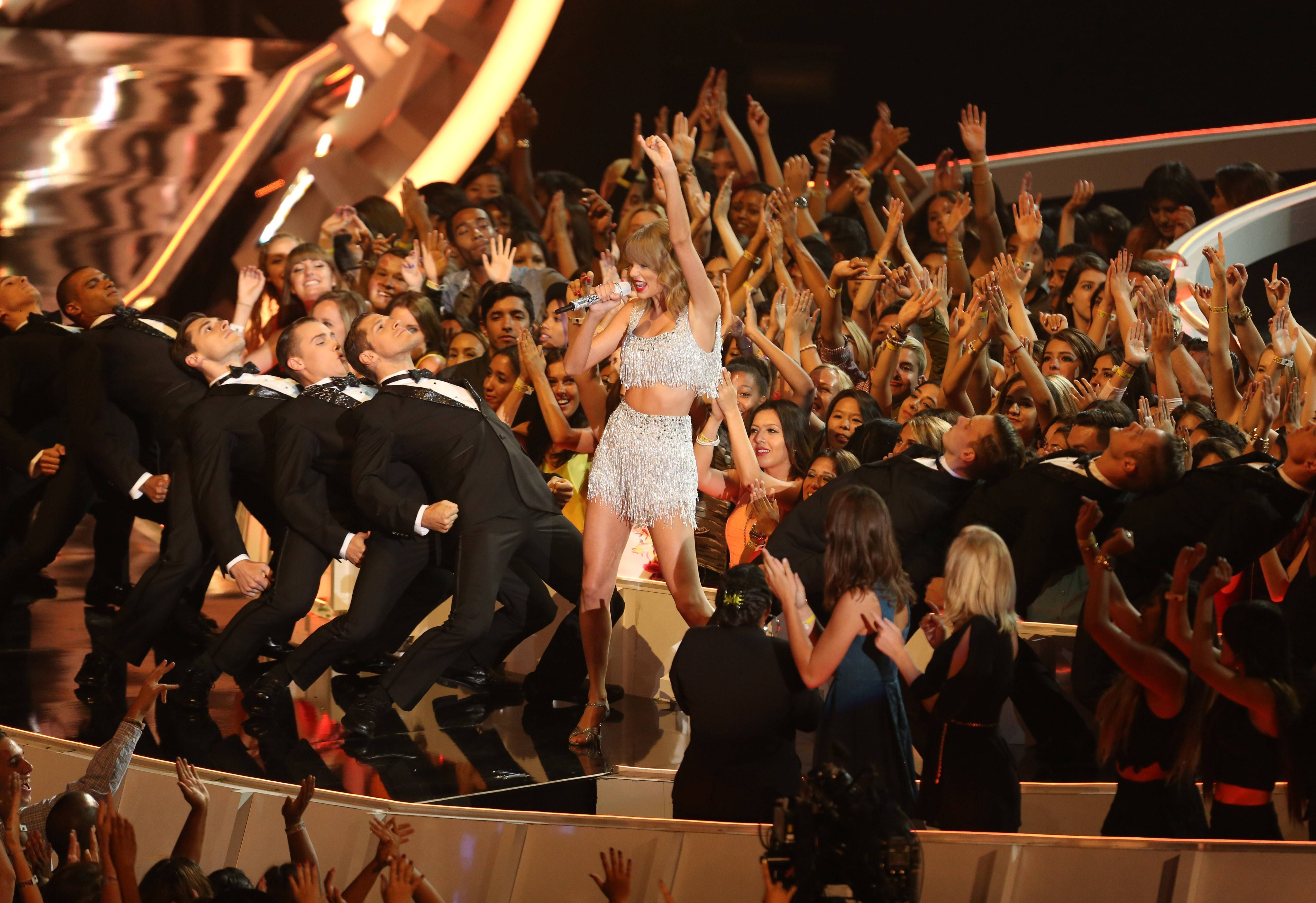 Taylor Swift performs at the MTV Video Music Awards.