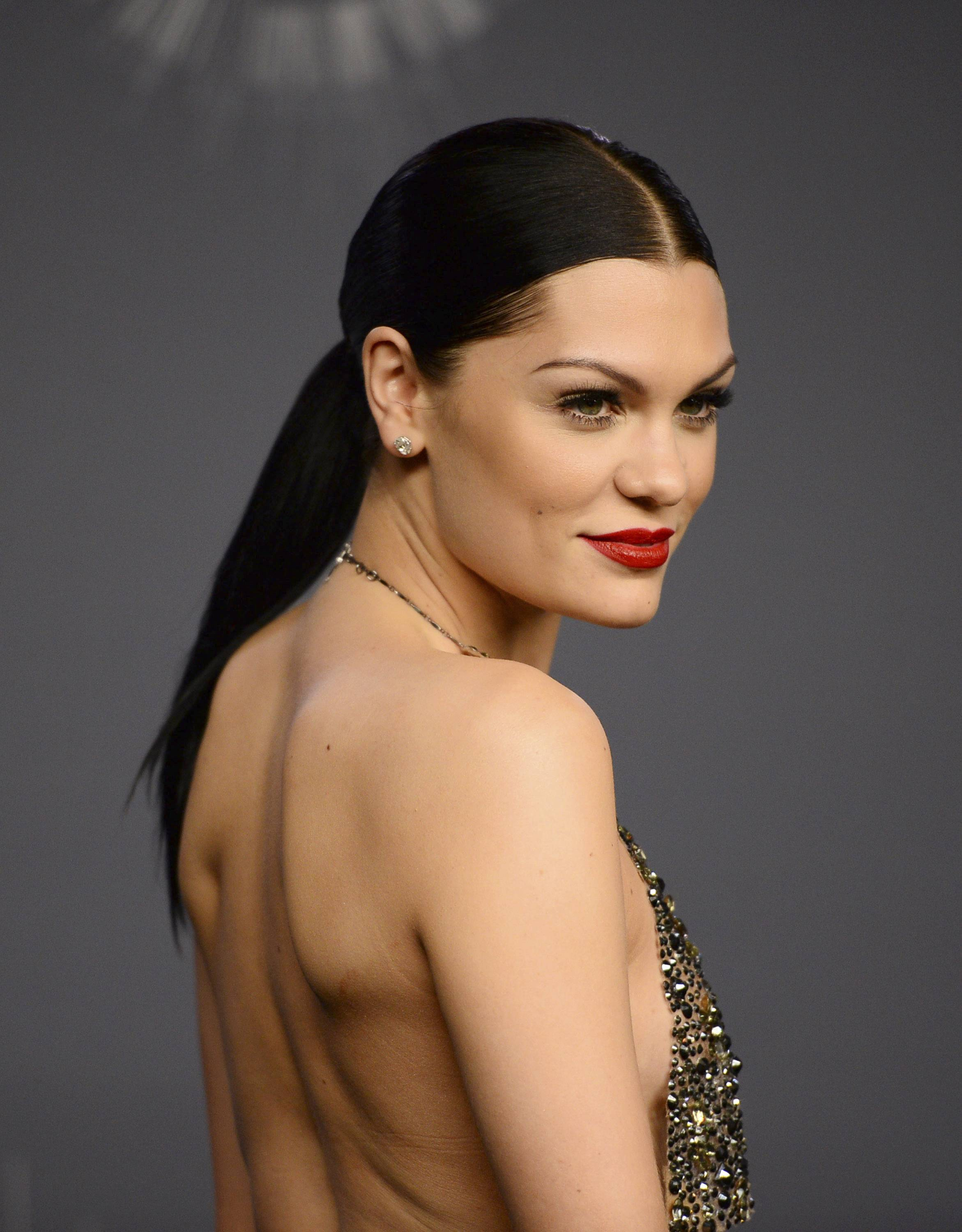 Jessie J poses in the press room at the MTV Video Music Awards.