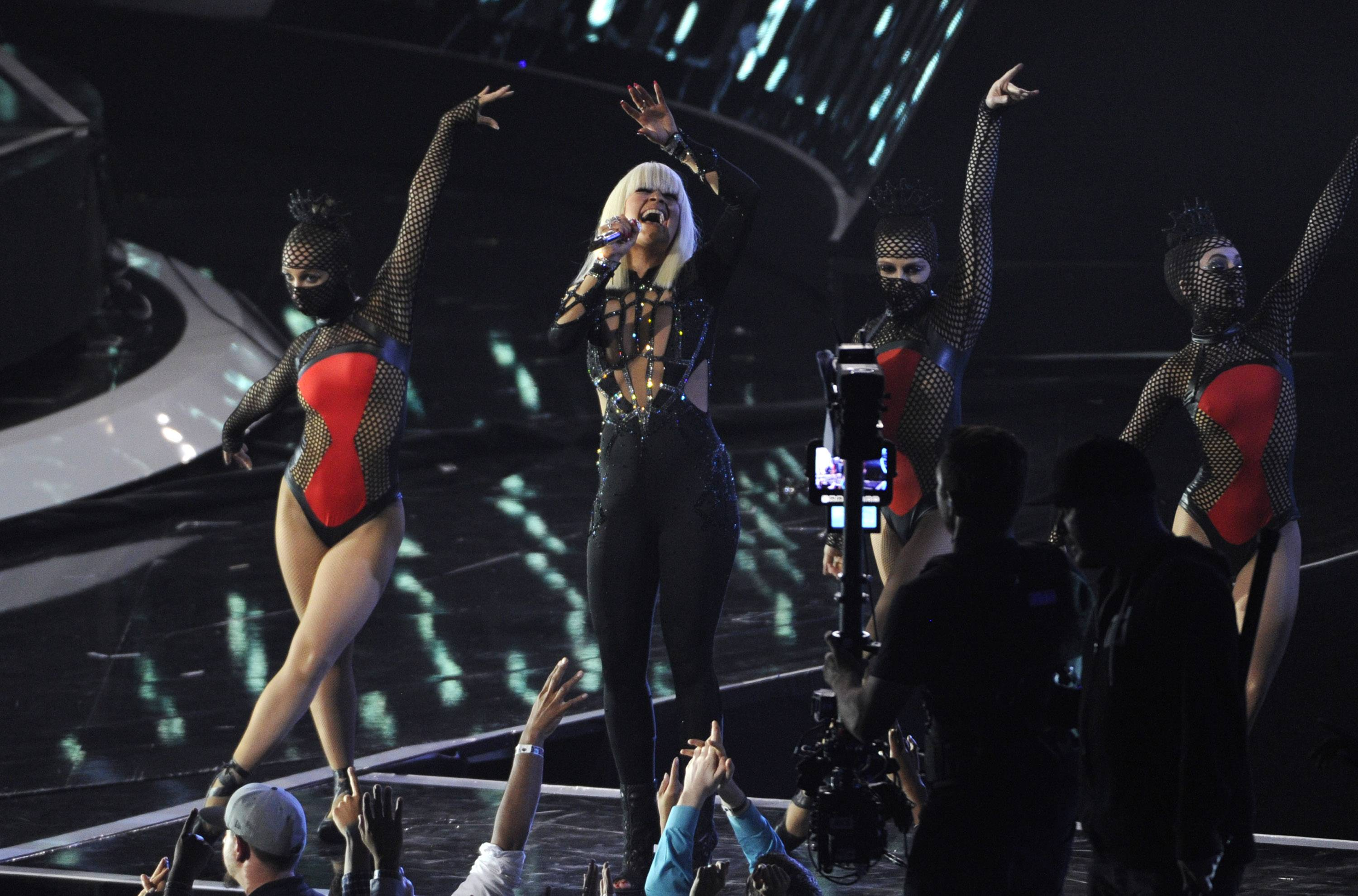 Iggy Azalea performs onstage at the MTV Video Music Awards.