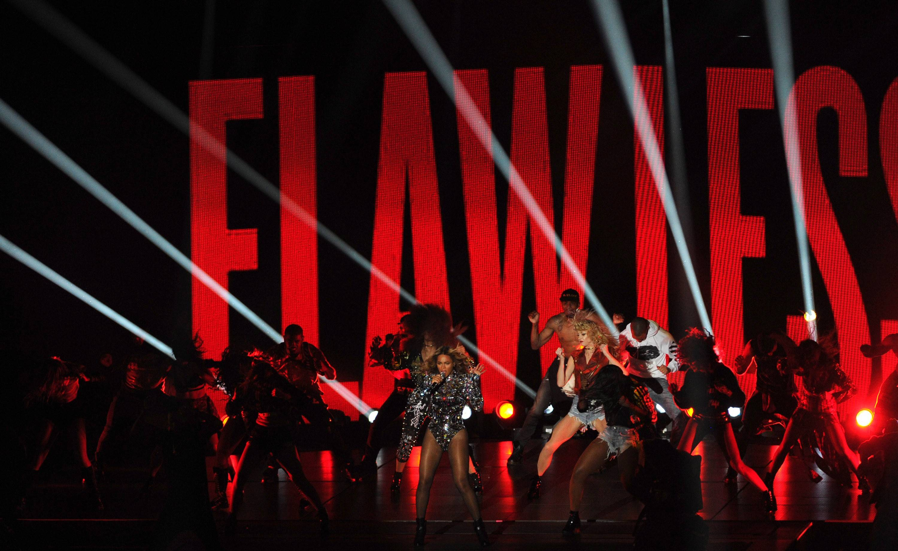 Beyonce performs at the MTV Video Music Awards.