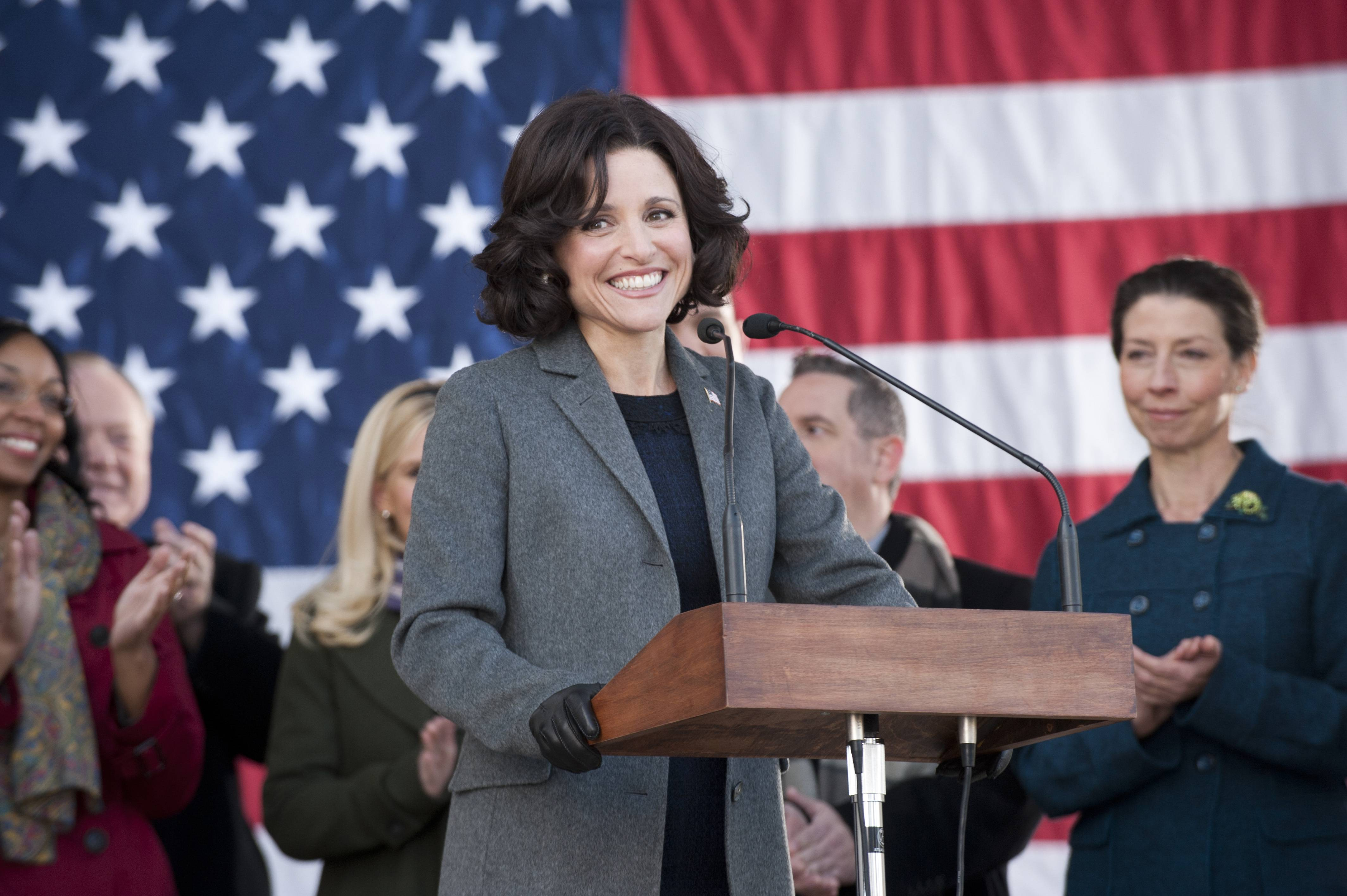 "Julia Louis-Dreyfus might just pull a three-peat if she takes home another Emmy for best actress in a comedy series for her role on HBO's ""Veep."""