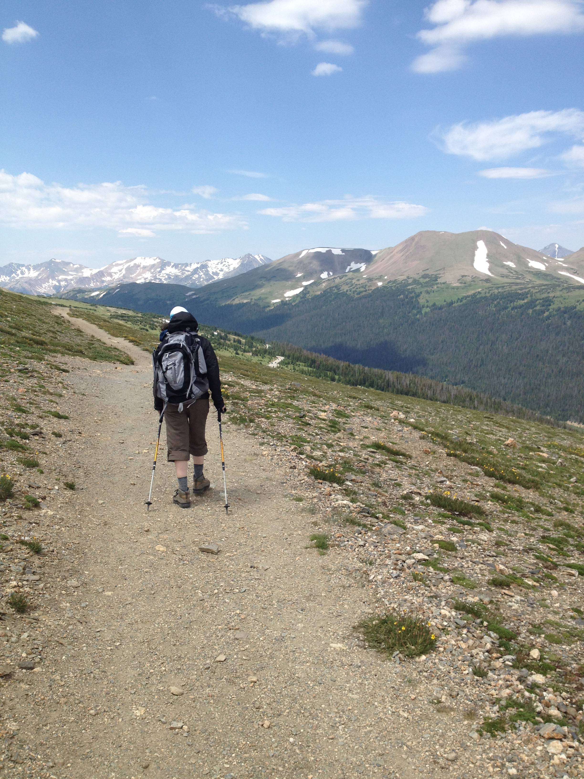 The Upper Ute Trail in Rocky Mountain National Park offers several good day hikes in the eastern side of the park.