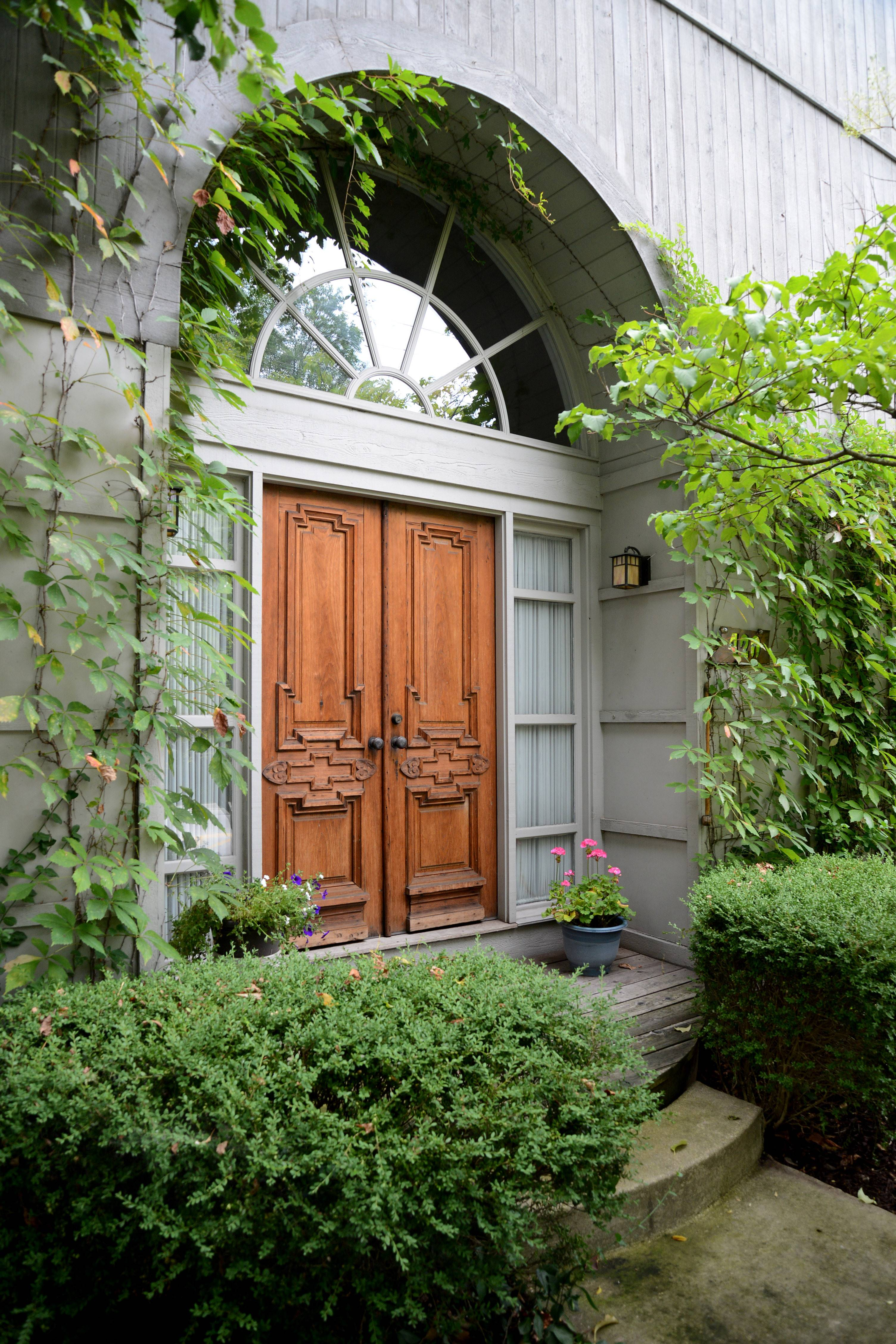 The front doors to the Daniel home were salvaged from a 1860s house in Elburn.