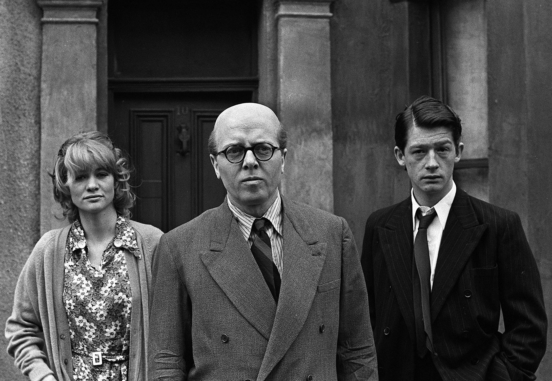 British actor Richard Attenborough, center, stands alongside John Hurt, right, and Judy Geeson in London in this May 17, 1970 file photo. The acclaimed actor and Oscar-winning director, whose film career on both sides of the camera spanned 60 years, died on Sunday. He was 90.