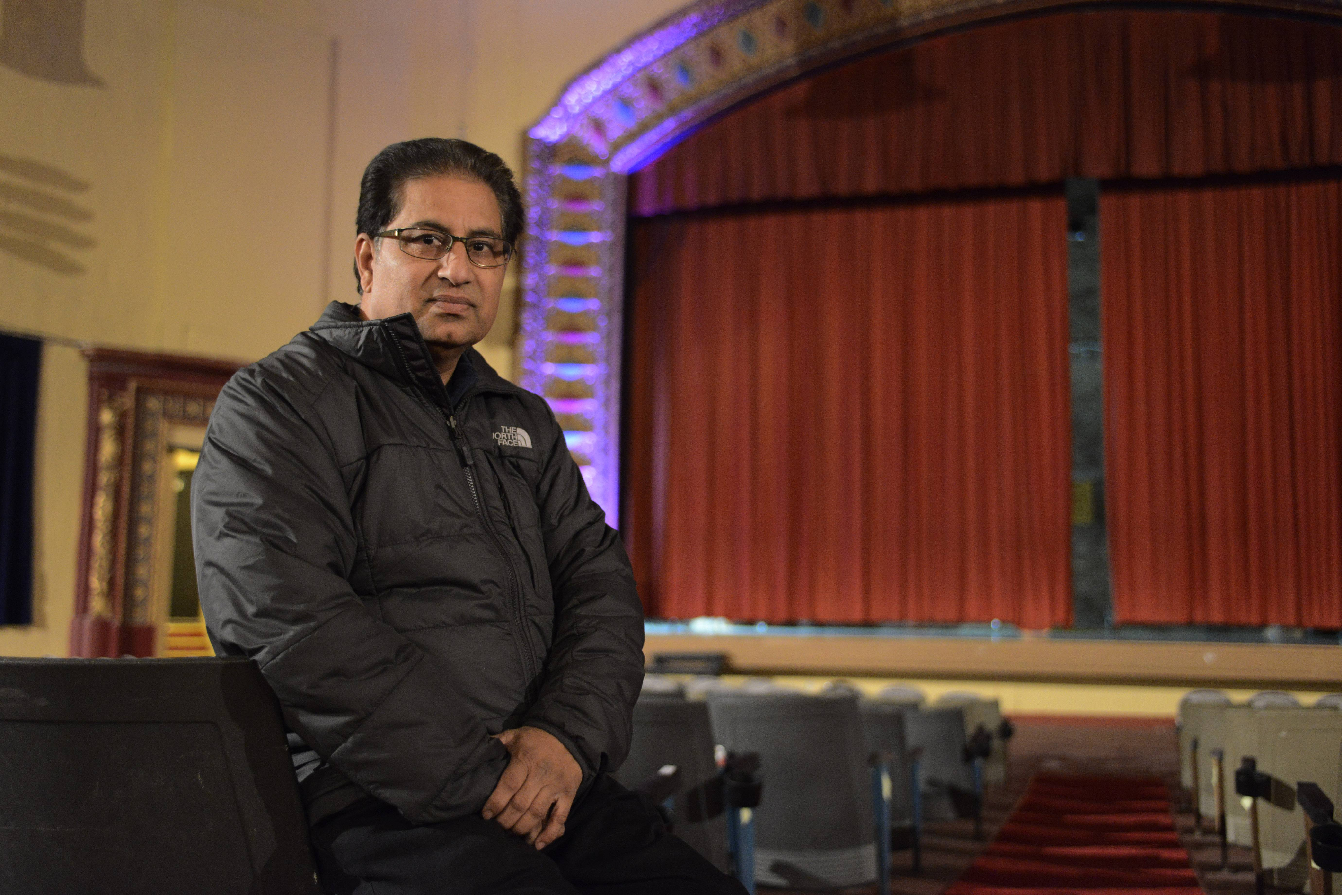 Des Plaines Theatre owner Dhitu Bhagwakar hopes to reopen the historic venue, but first he wants financial assistance from the city.