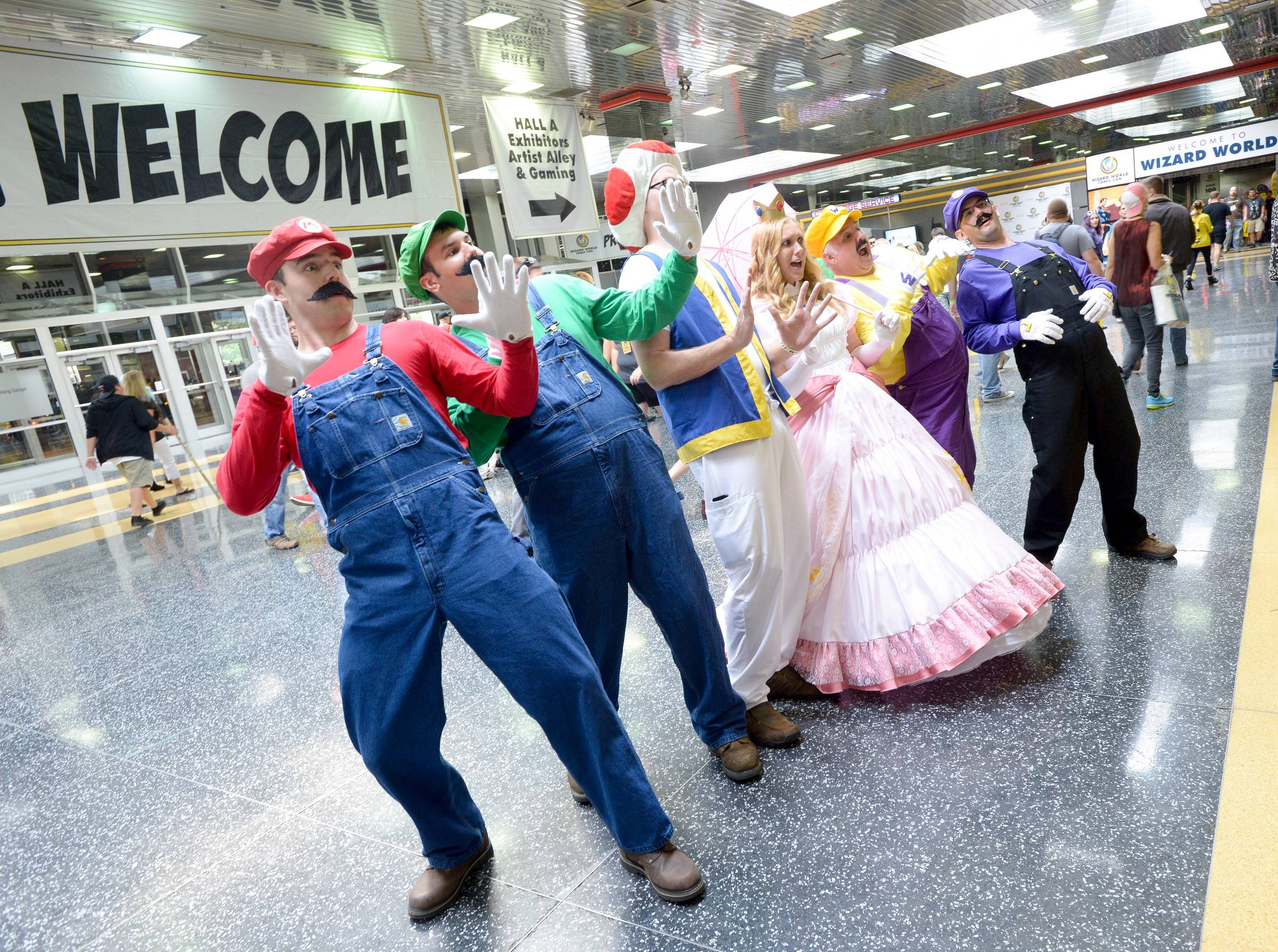 Mark Black/mblack@dailyherald.comThe Donald E. Stephens Convention Center in Rosemont was filled with many fans of Comic Con who came fully dressed as their favorite characters from various comics, TV shows and movies.