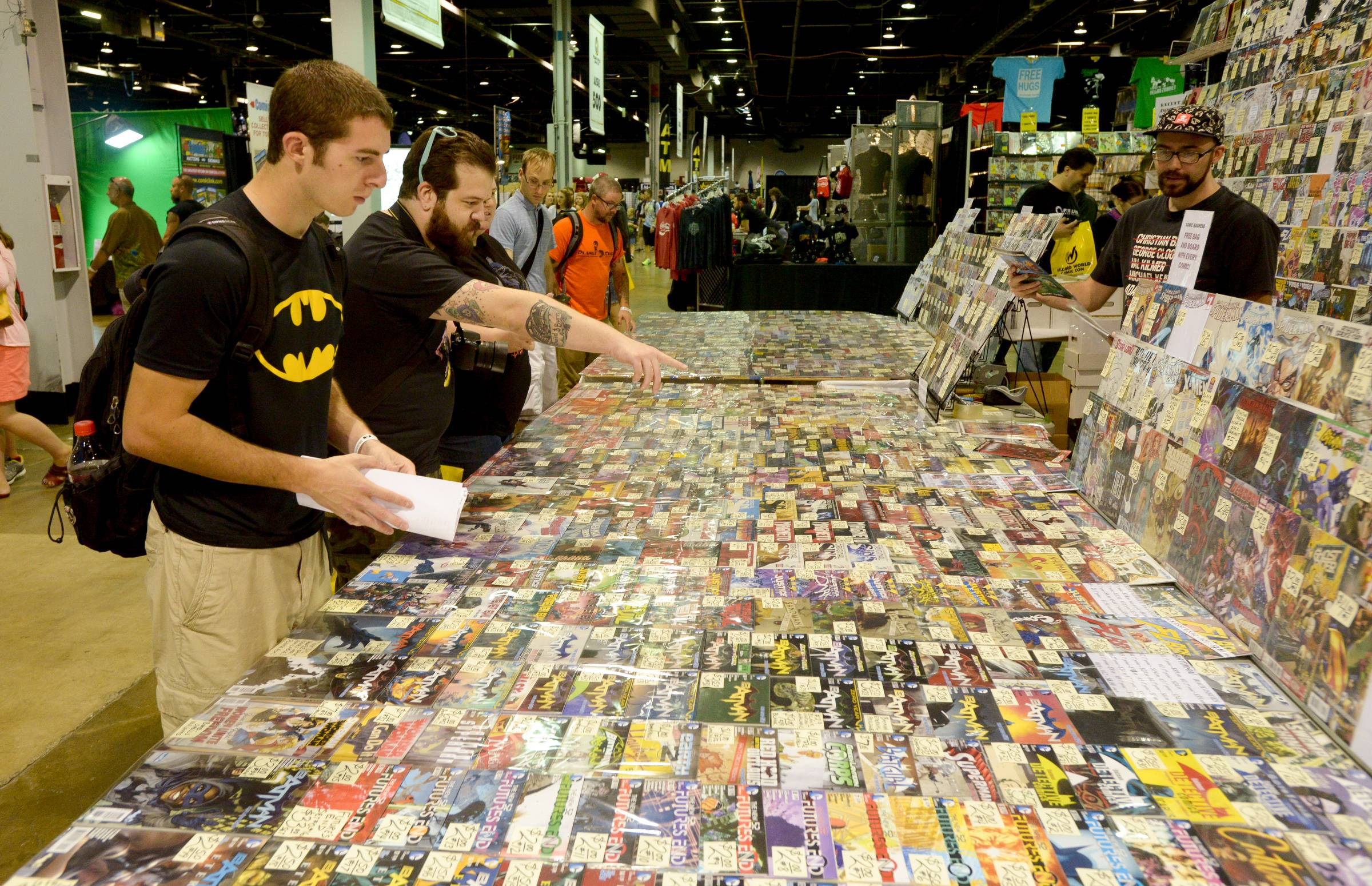 The Comic Con convention at the Donald E. Stephens Convention Center in Rosemont had a massive selection of comic books for fans to buy.