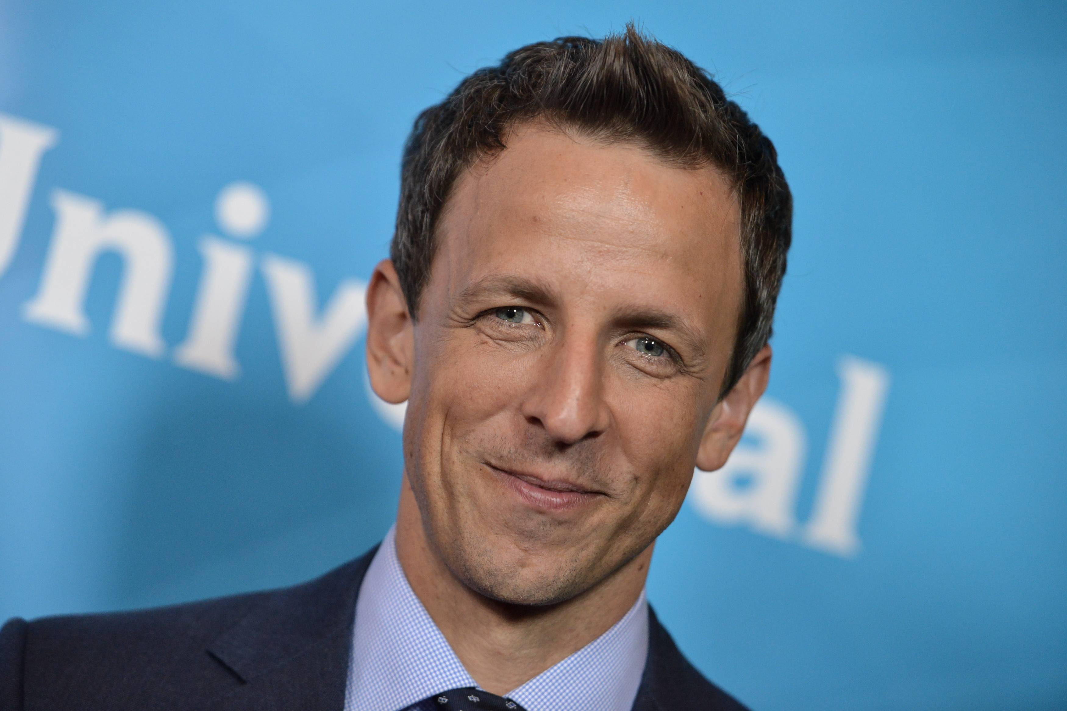 """Butterflies tend to go away with the first laugh,"" said Seth Meyers, who is serving as master of ceremonies when ""The Prime-Time Emmy Awards"" airs at 7 p.m. Monday on NBC."