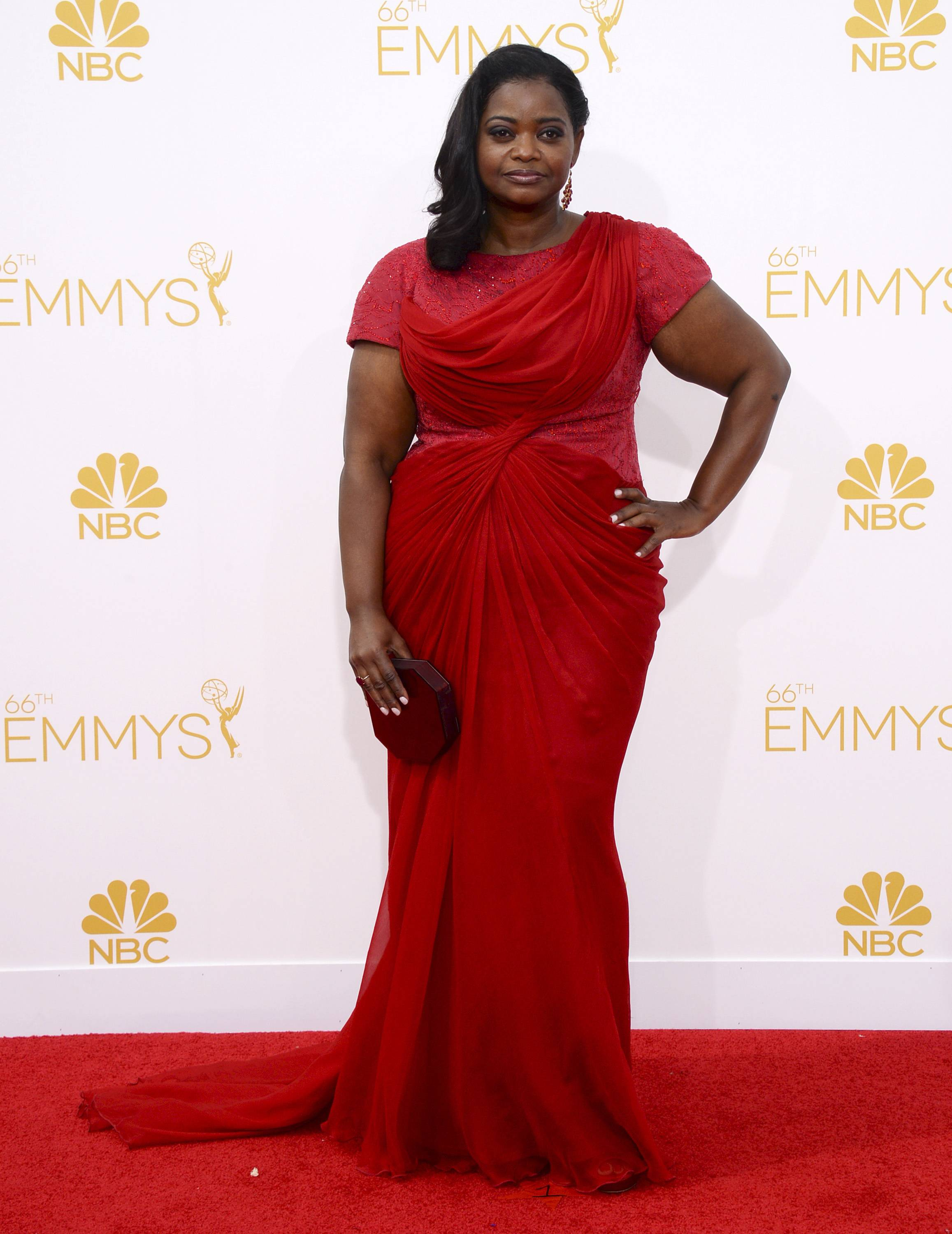 Octavia Spencer arrives at the 66th Annual Primetime Emmy Awards at the Nokia Theatre.