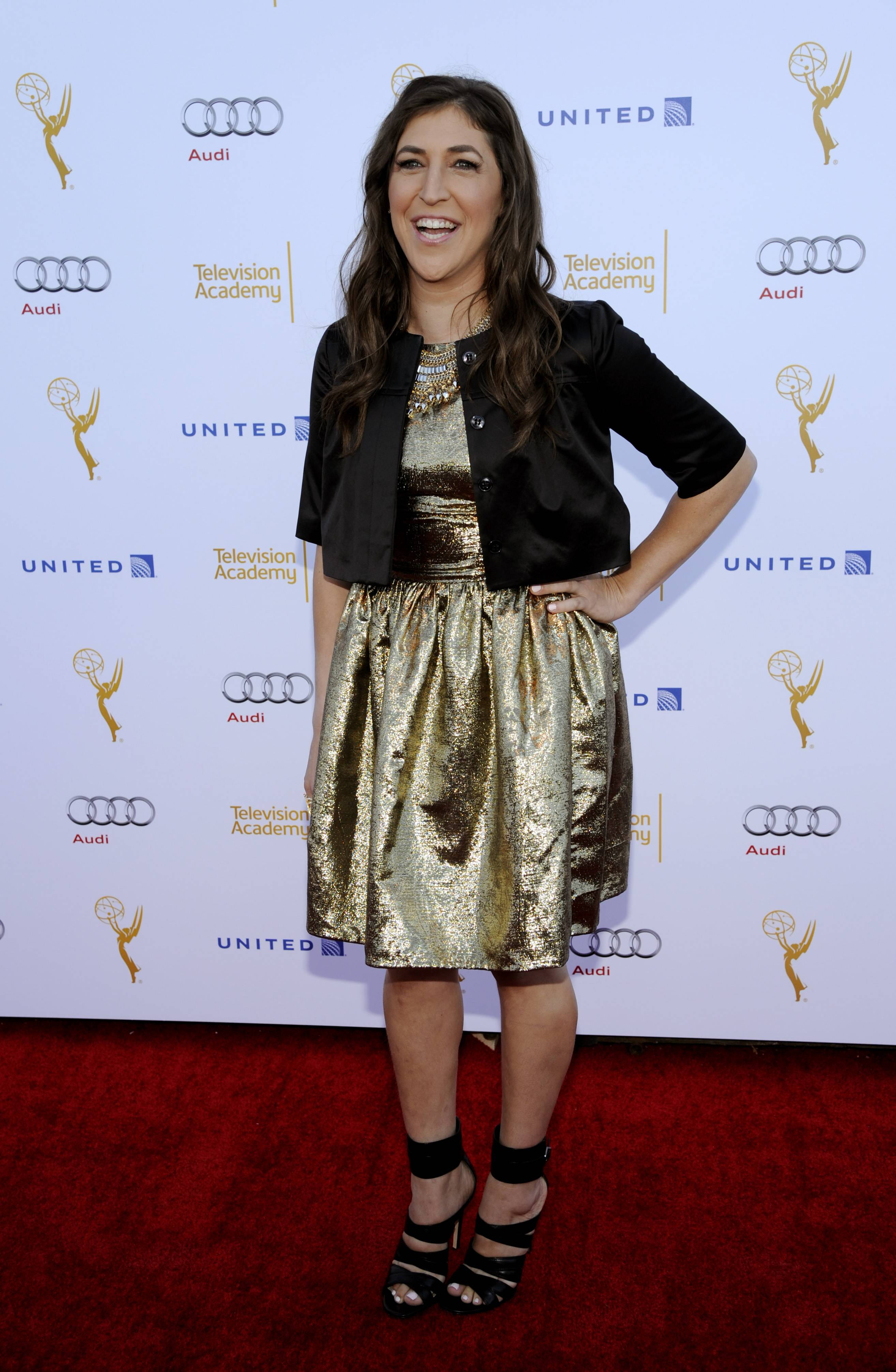 "Mayim Bialik, an Emmy nominee for Outstanding Supporting Actress in a Comedy Series for ""The Big Bang Theory,"" says she usually has Thai food and listens to 'mopey emotional music' before heading to the Emmy Awards."