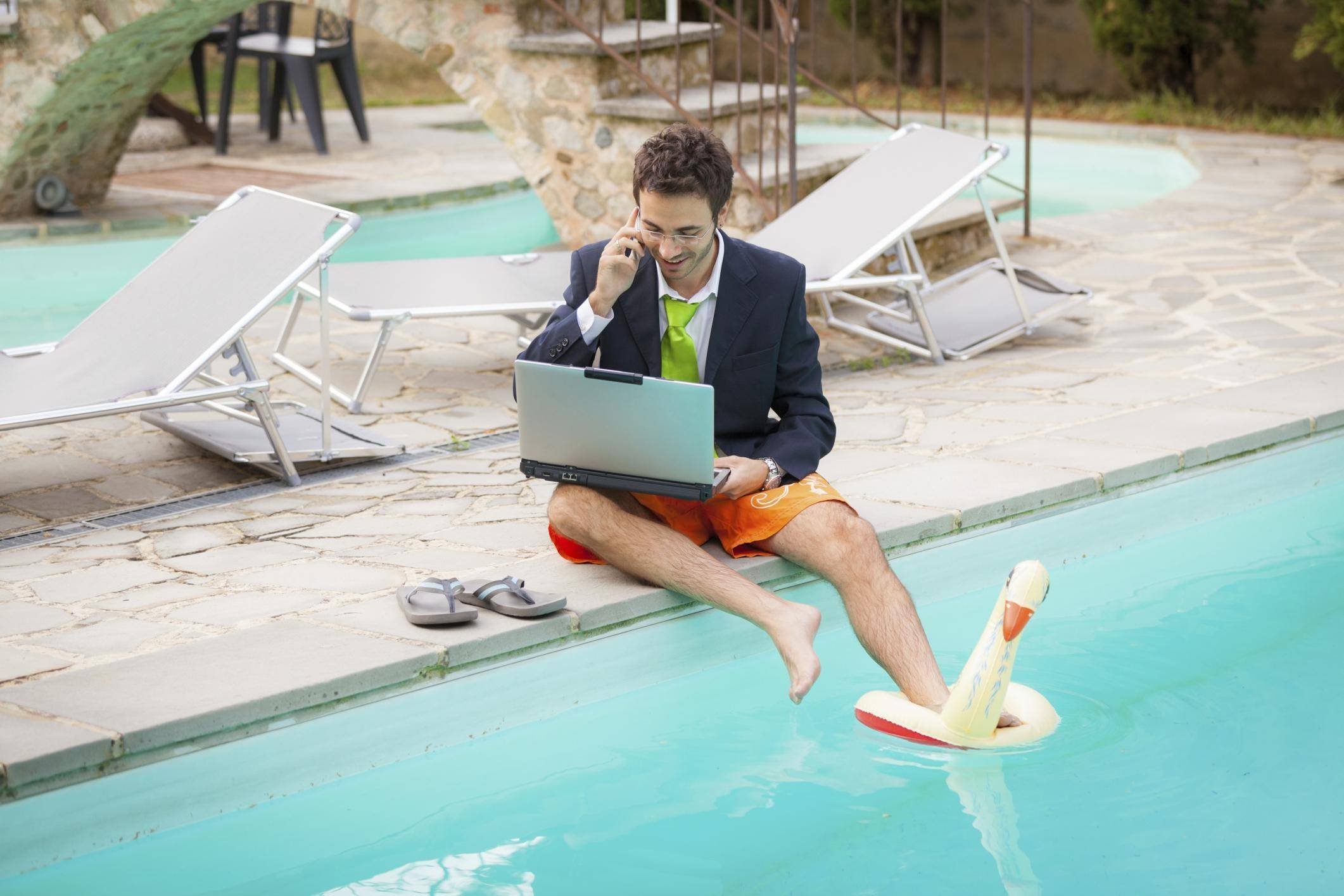 A survey shows many Americans don't use their vacation time. And even those that do sometimes take work emails and calls while on vacation.