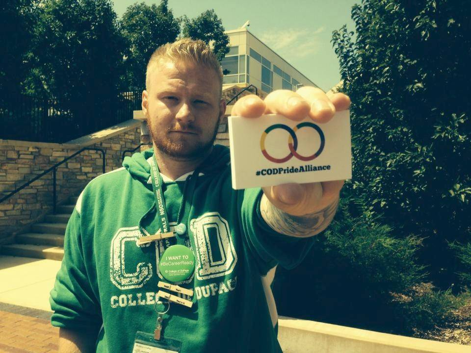 Brad Setter of Westmont is a member of the College of DuPage's Pride Alliance.
