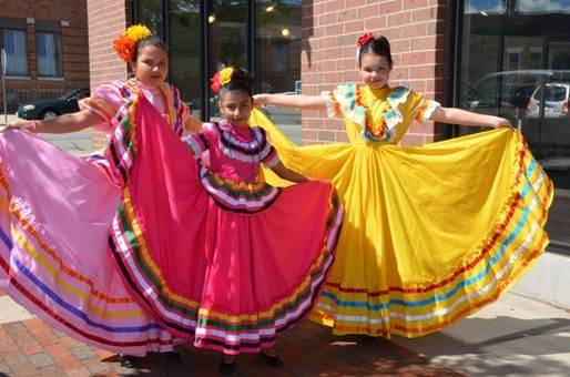 Performers from Ballet Folclorrico Erandi at last year's Waukegan Public Library Monarch Festival.