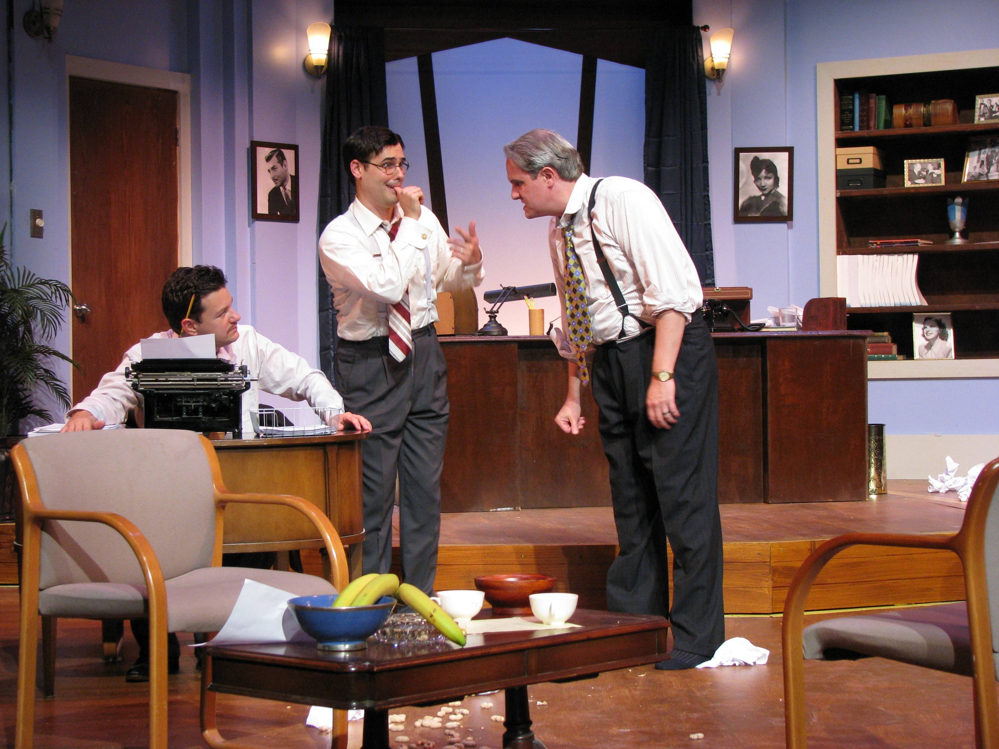 "BrightSide Theatre co-founder Tin Penavic, from left, Michael E. Black and Jeff Gamlin were featured in the fall in ""Moonlight and Magnolias."""