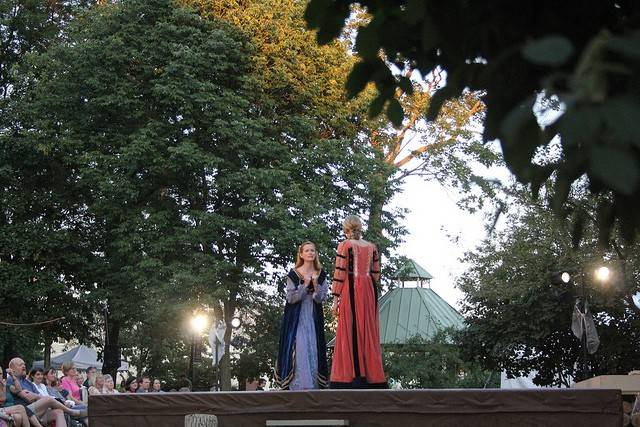 "Wheaton College's Arena Theater will perform Shakespeare's ""Love's Labour's Lost"" on Friday and Saturday, Aug. 29 and 30, in Wheaton's Memorial Park."