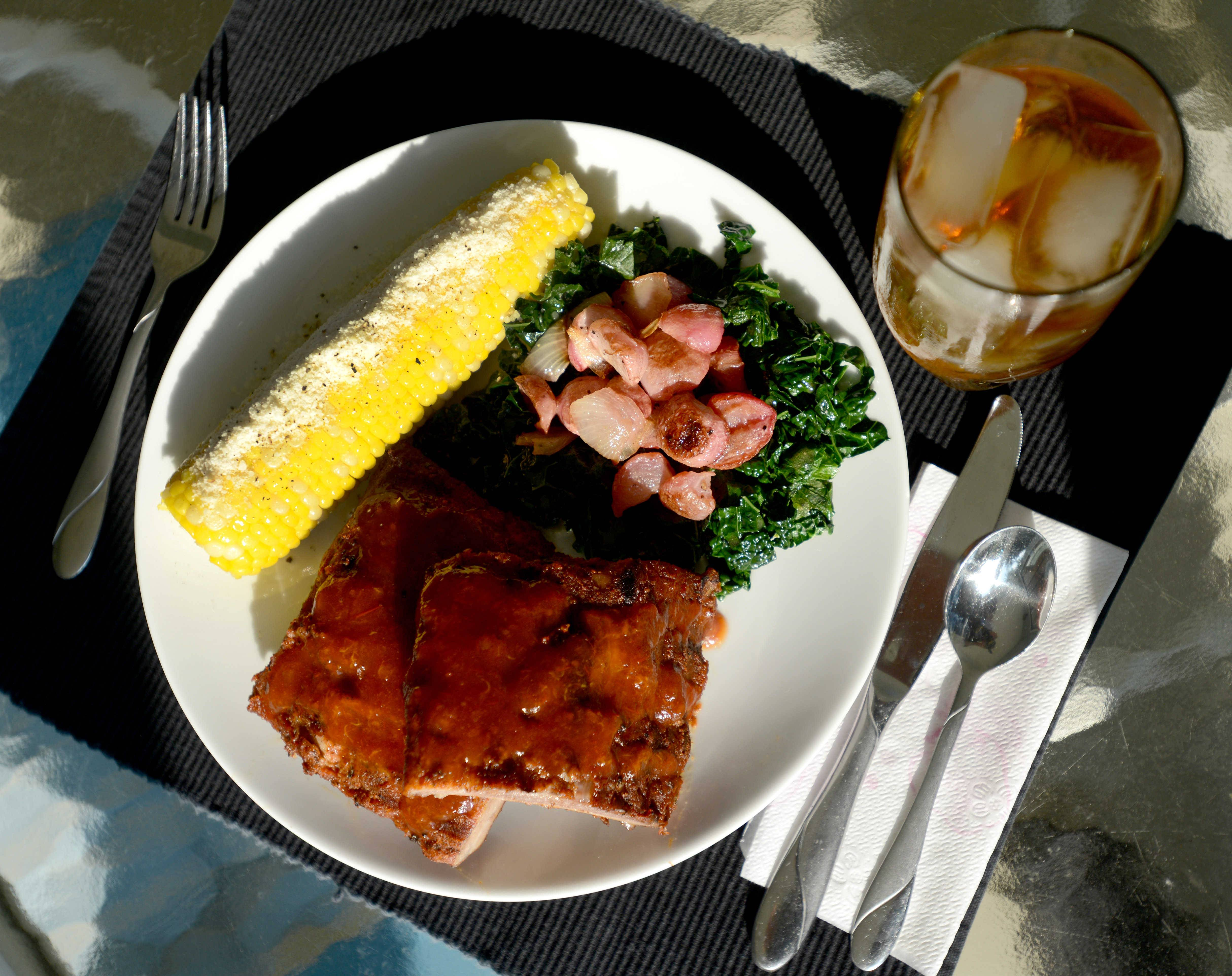 Joan Huenecke of Palatine created barbecue sauce from peach tea and apricot spread. A peach tea vinaigrette dresses her radish salad. She serves it with corn dusted with parmesan cheese.