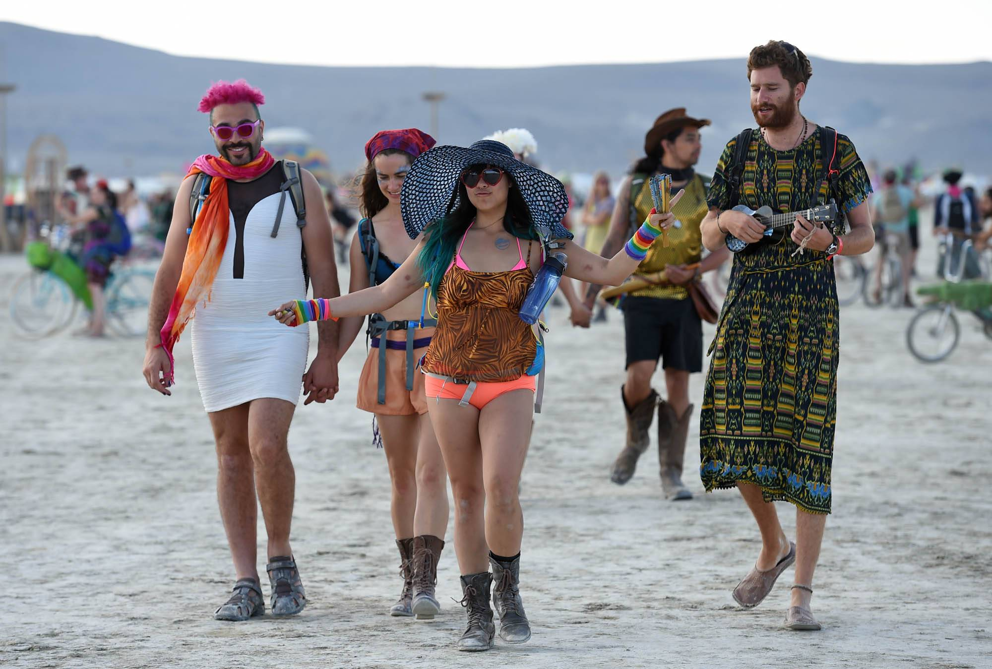 Burning Man participants, seen at this week's event in the Black Rock Desert of Gerlach, Nev., have a distinctive look.