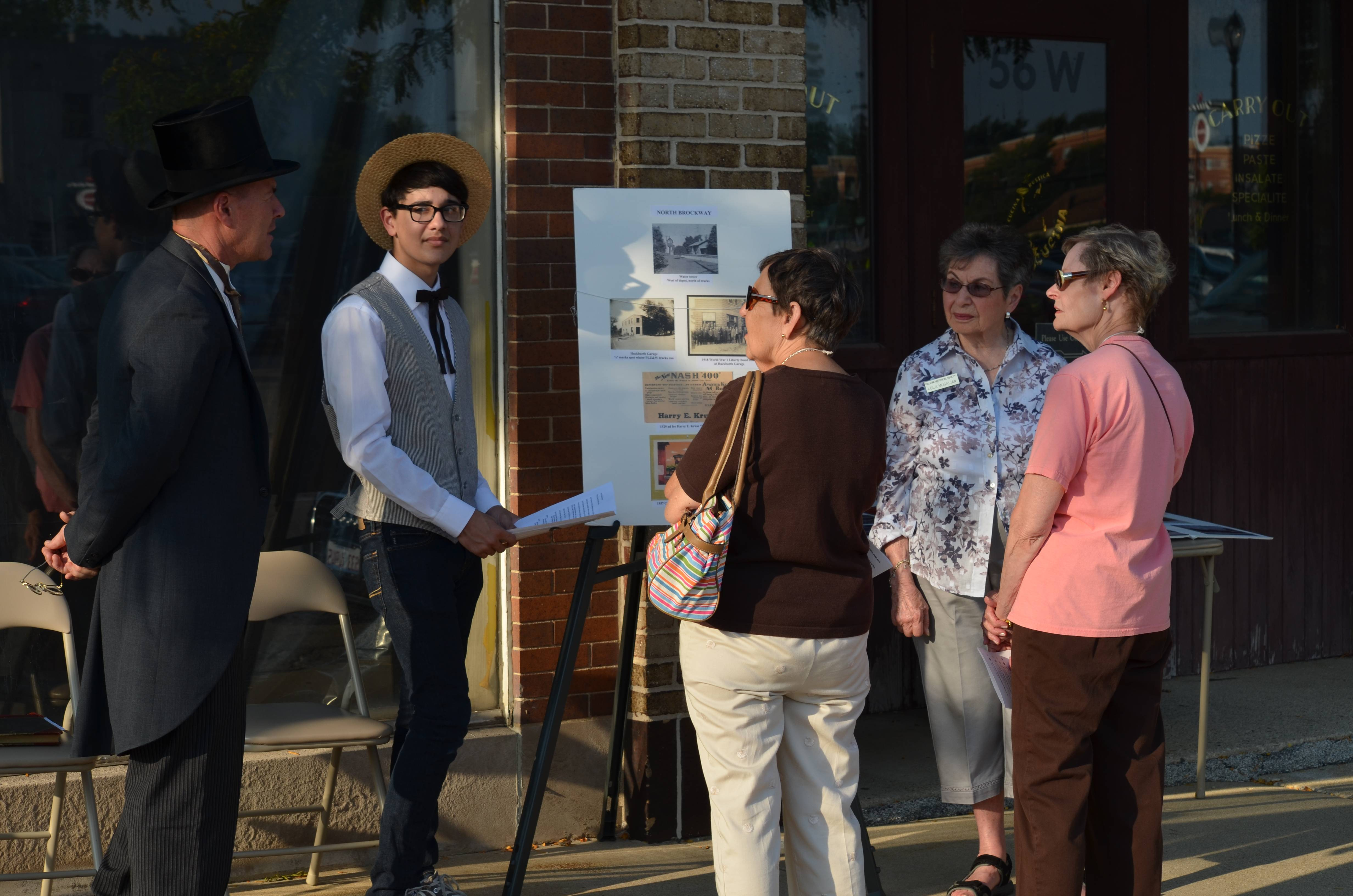 Costumed actors will share information about historical residents, businesses and buildings during the September 5 History Crawl.Palatine Park District