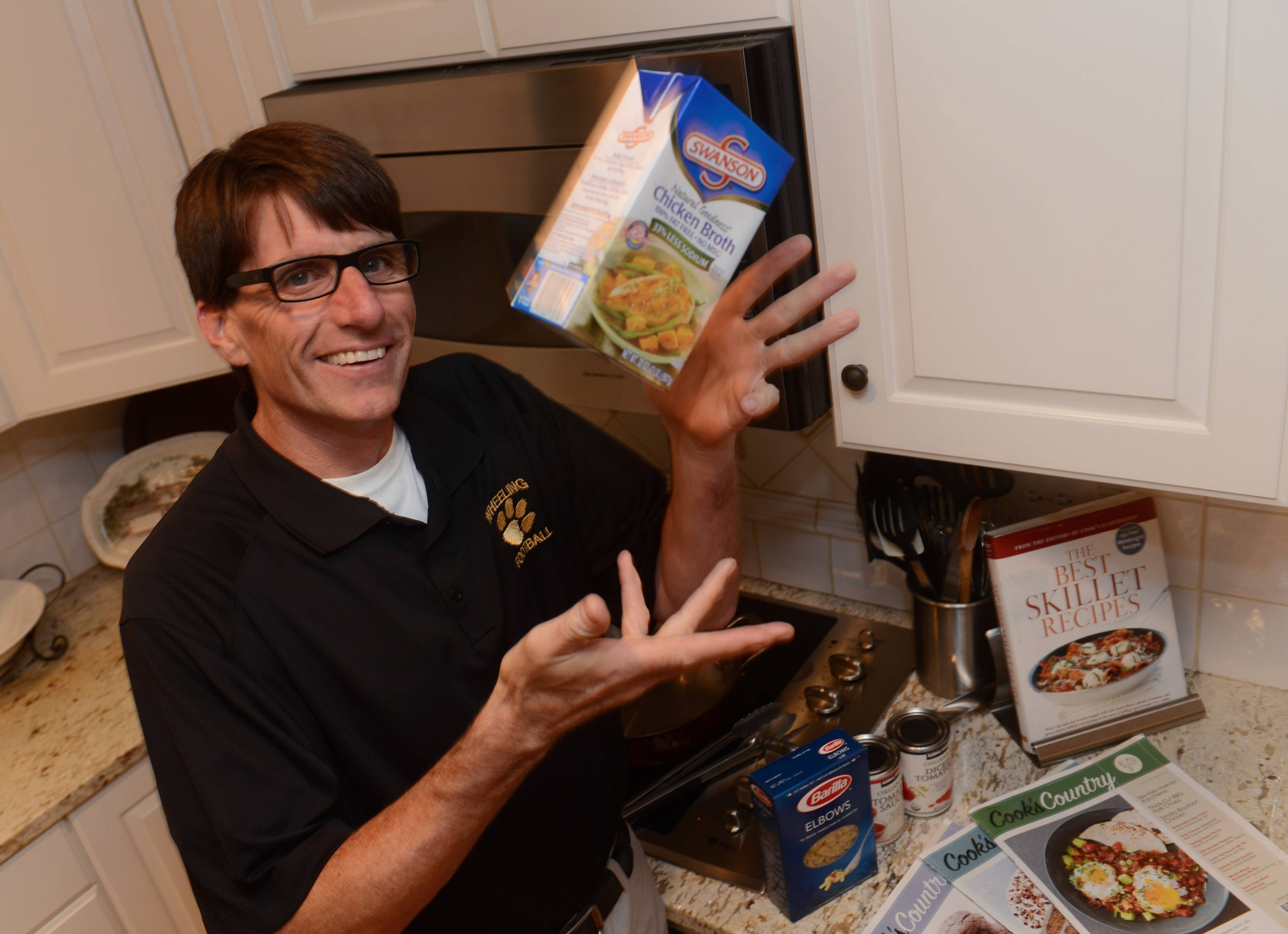 Steve May of Palatine frequently uses chicken broth in his recipes.