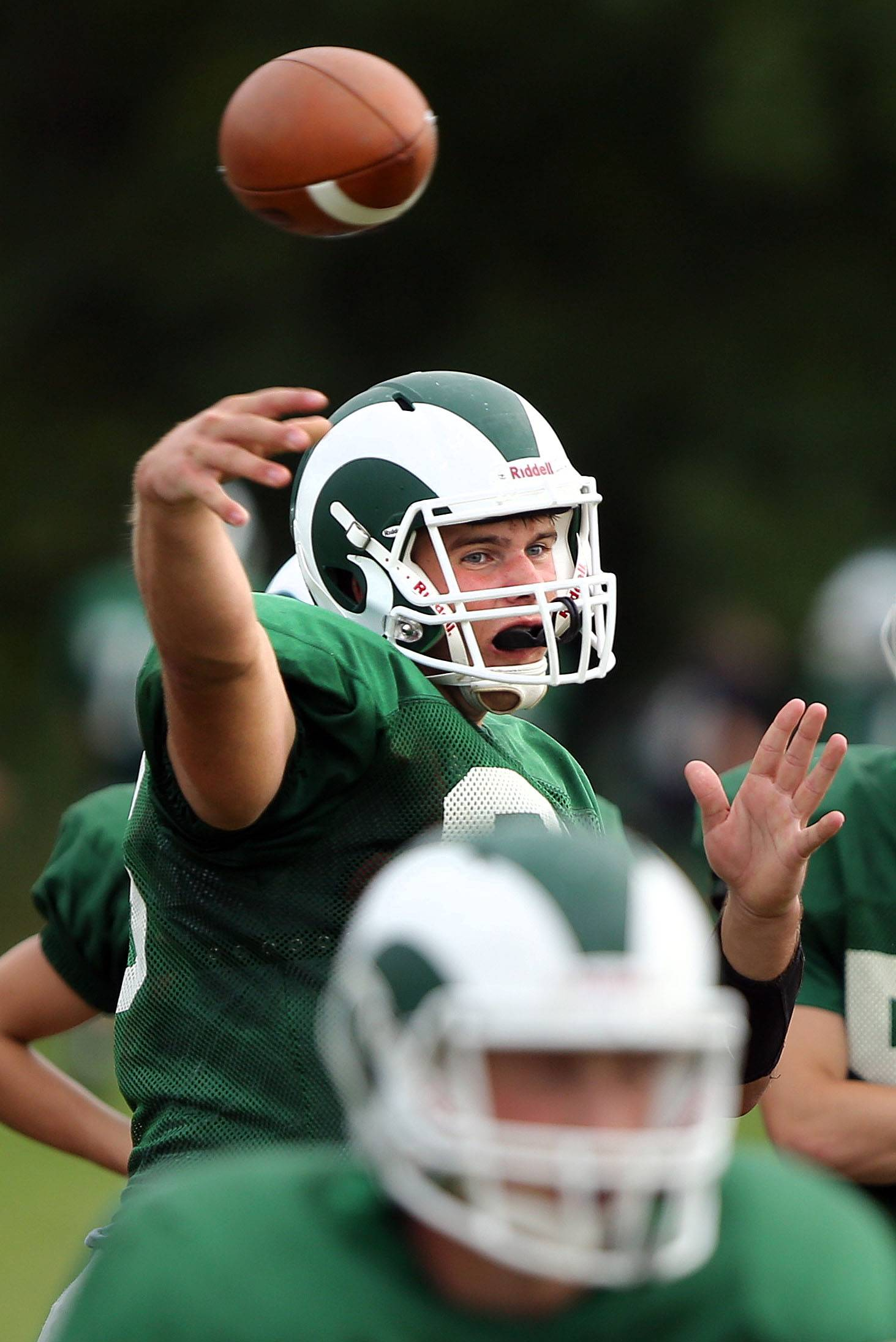Grayslake Central's Luke Shepherd throws during practice Wednesday afternoon at Central Park in Grayslake. Take a look at the bigger football picture for Lake County in Friday's Football Focus section.