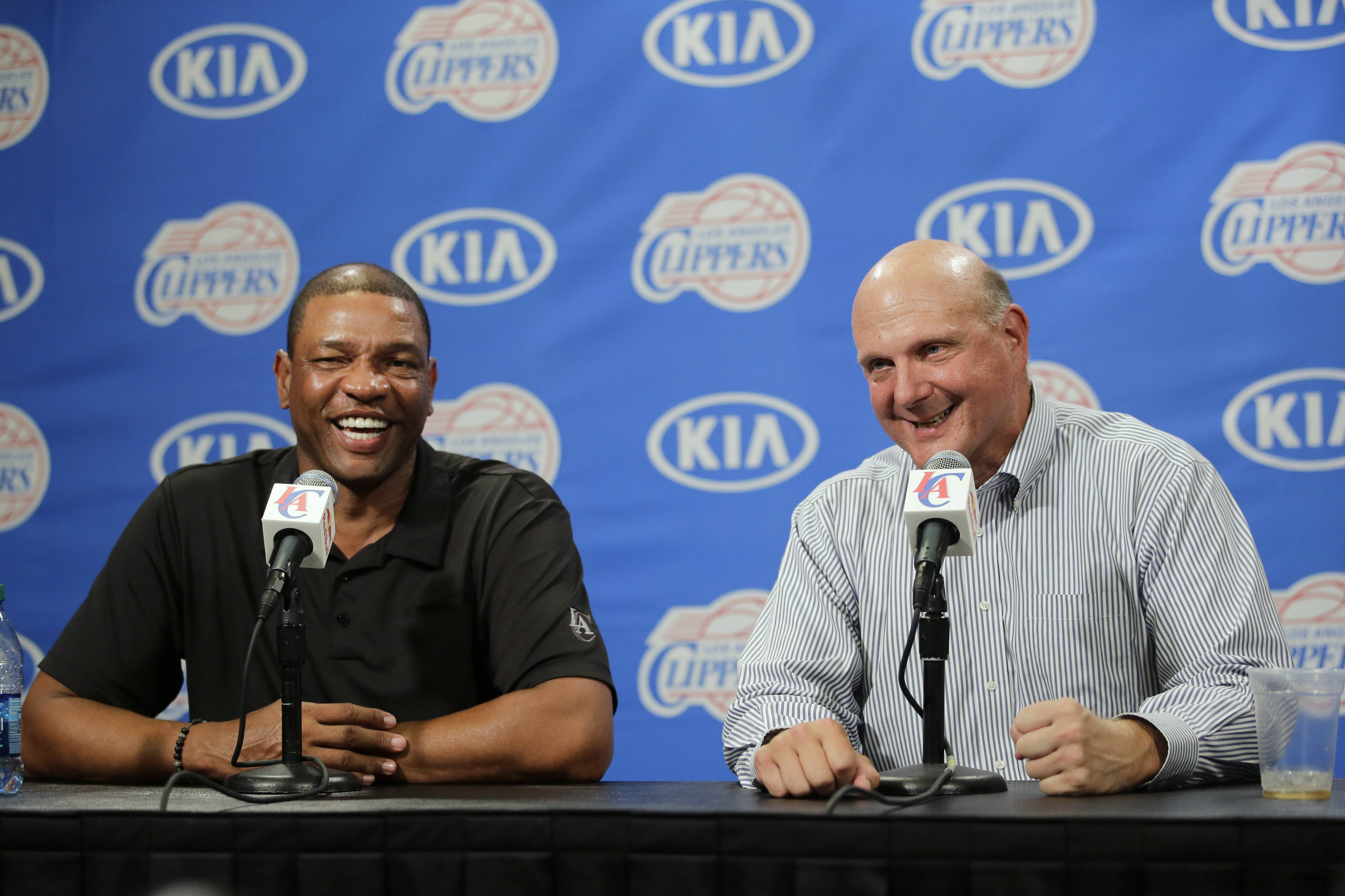 Doc Rivers is staying with the Los Angeles Clippers for another five years. In Steve Ballmer's first big move since taking over as the new owner, he gave Rivers a contract extension through the 2018-19 season.