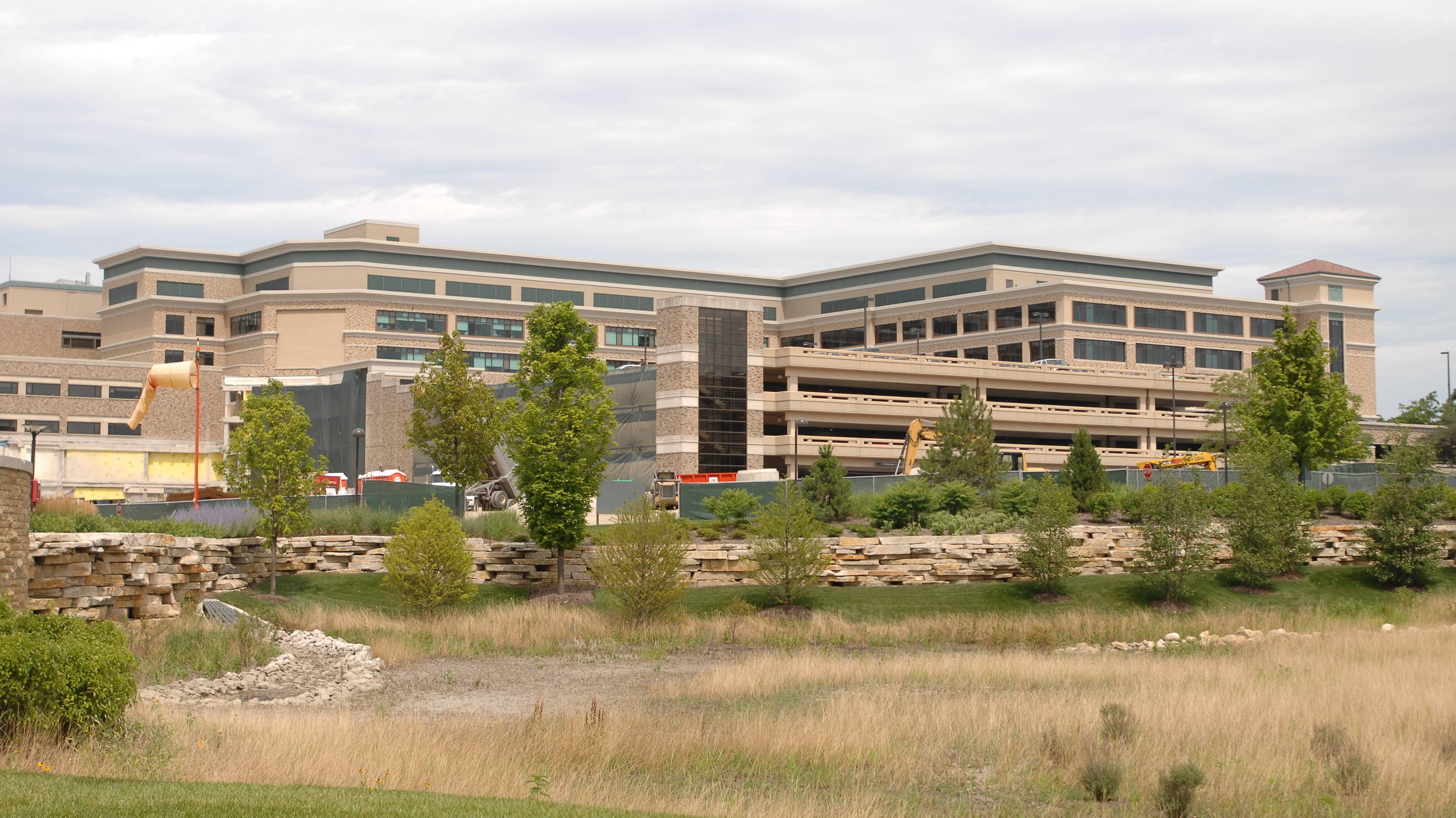 Central DuPage Hospital in Winfield, above, along with Delnor Hospital in Geneva, will become part of Northwestern Memorial HealthCare on Sept. 1.