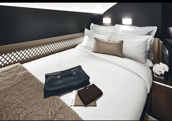 "Etihad Airways' new ""residence"" class on board its Airbus A380 superjumbos and Boeing 787 Dreamliners."