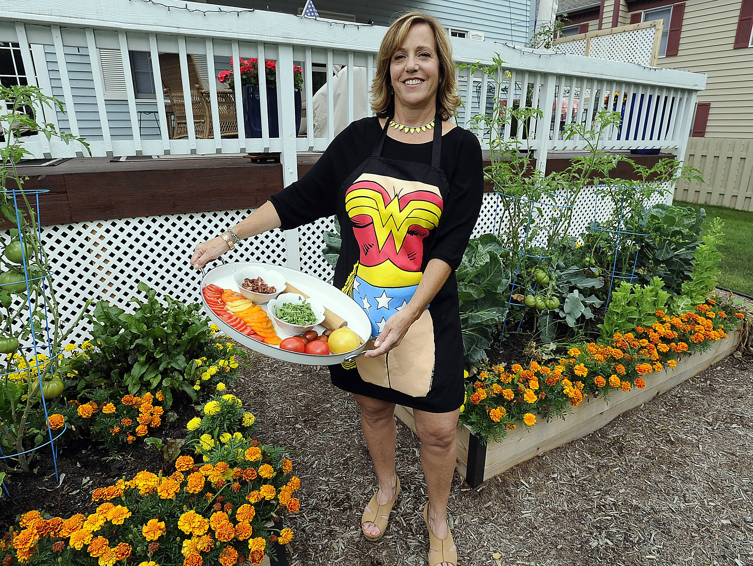 Tara Riley of Arlington Heights uses her powers to turn fresh garden ingredients into delicious meals for family and friends.