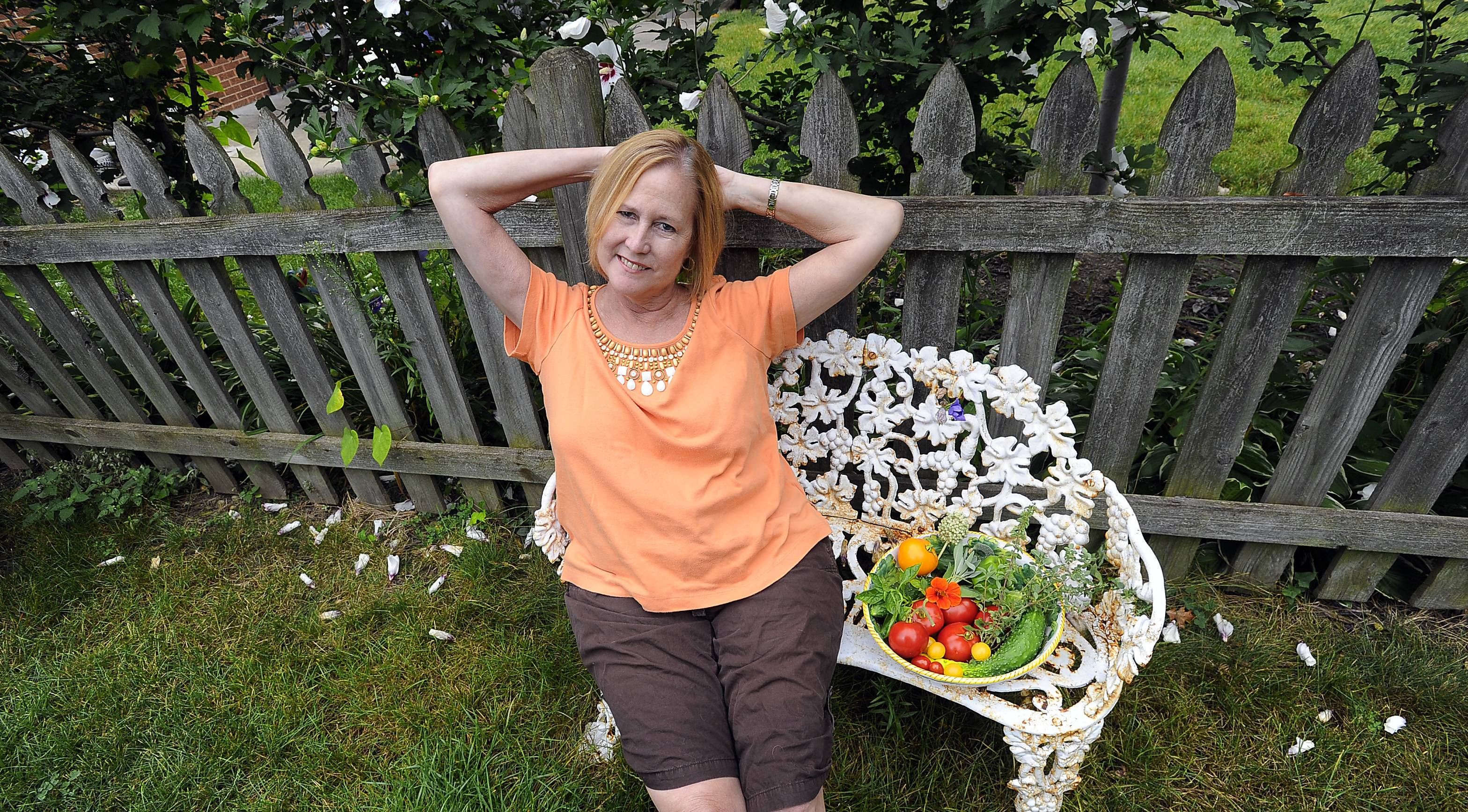 When she's not in the kitchen, Molly Sutton of Arlington Heights might be in her garden selecting vegetables for the evening meal.