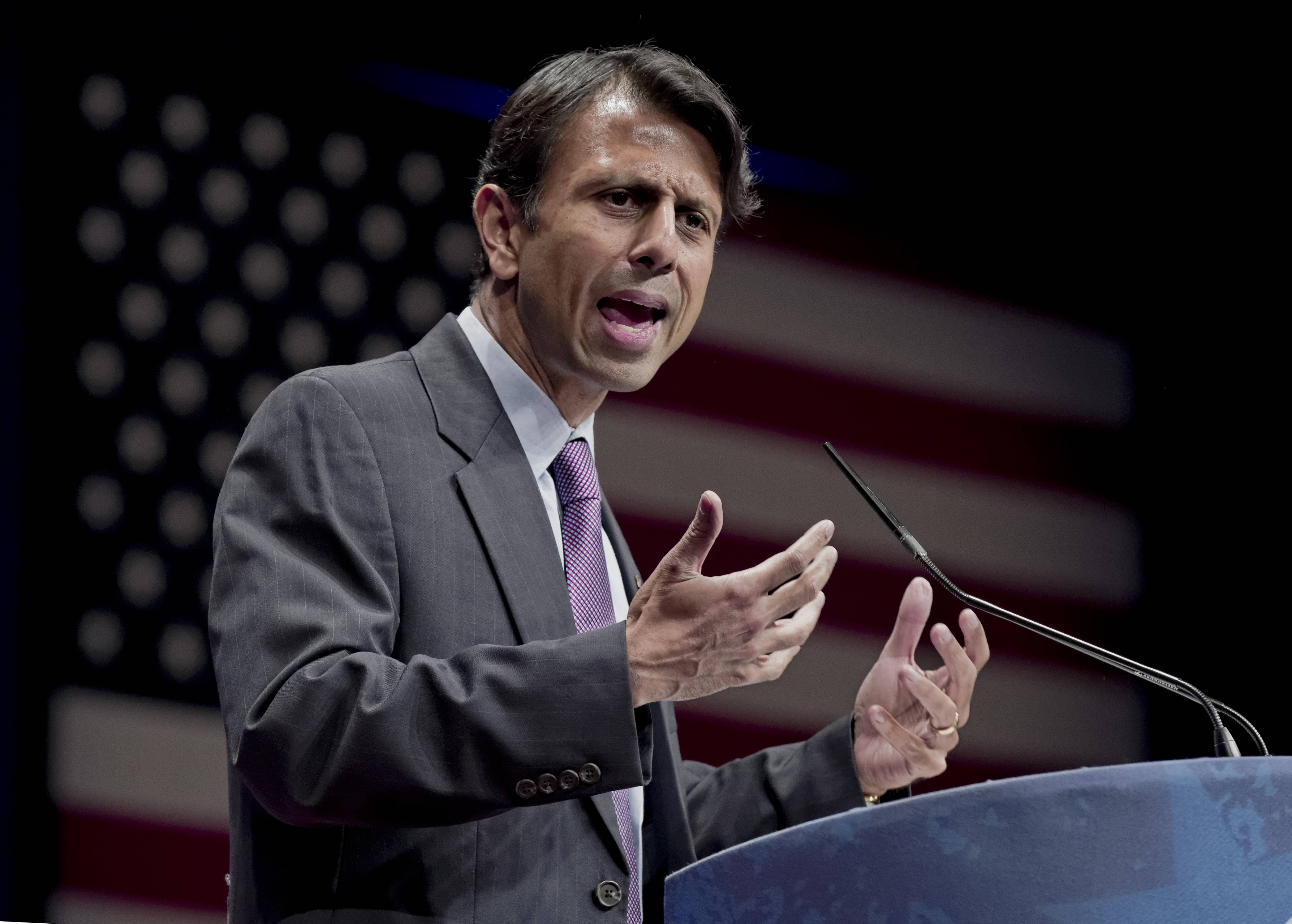 Republican Gov. Bobby Jindal of Louisiana filed a lawsuit Wednesday Aug. 27, 2014 against the Obama administration, accusing it of illegally manipulating federal grant money and regulations to force states to adopt the Common Core education standards.