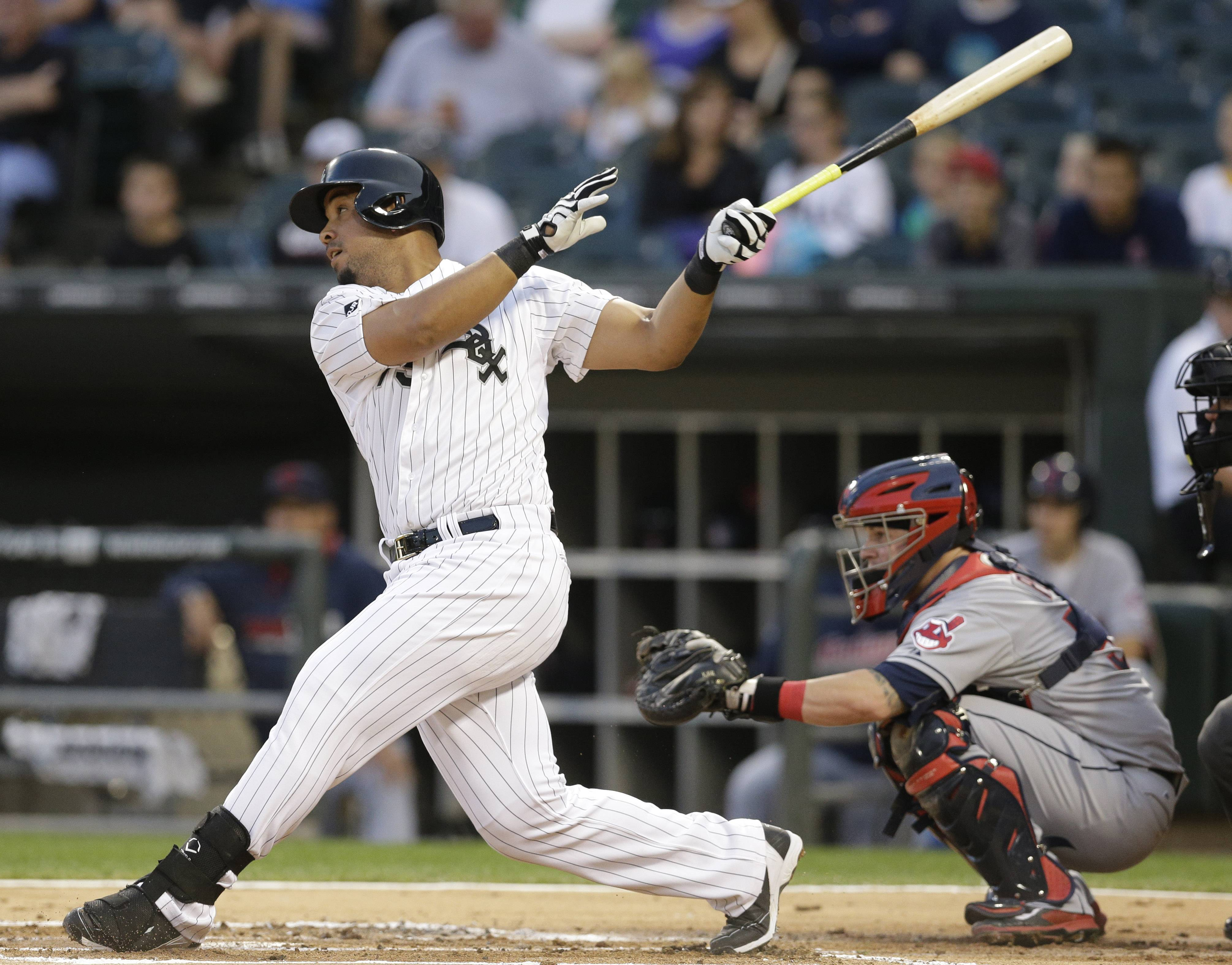 The White Sox's Jose Abreu had three hits and 2 RBIs in the Sox win over Cleveland Wednesday night at U.S. Cellular Field.